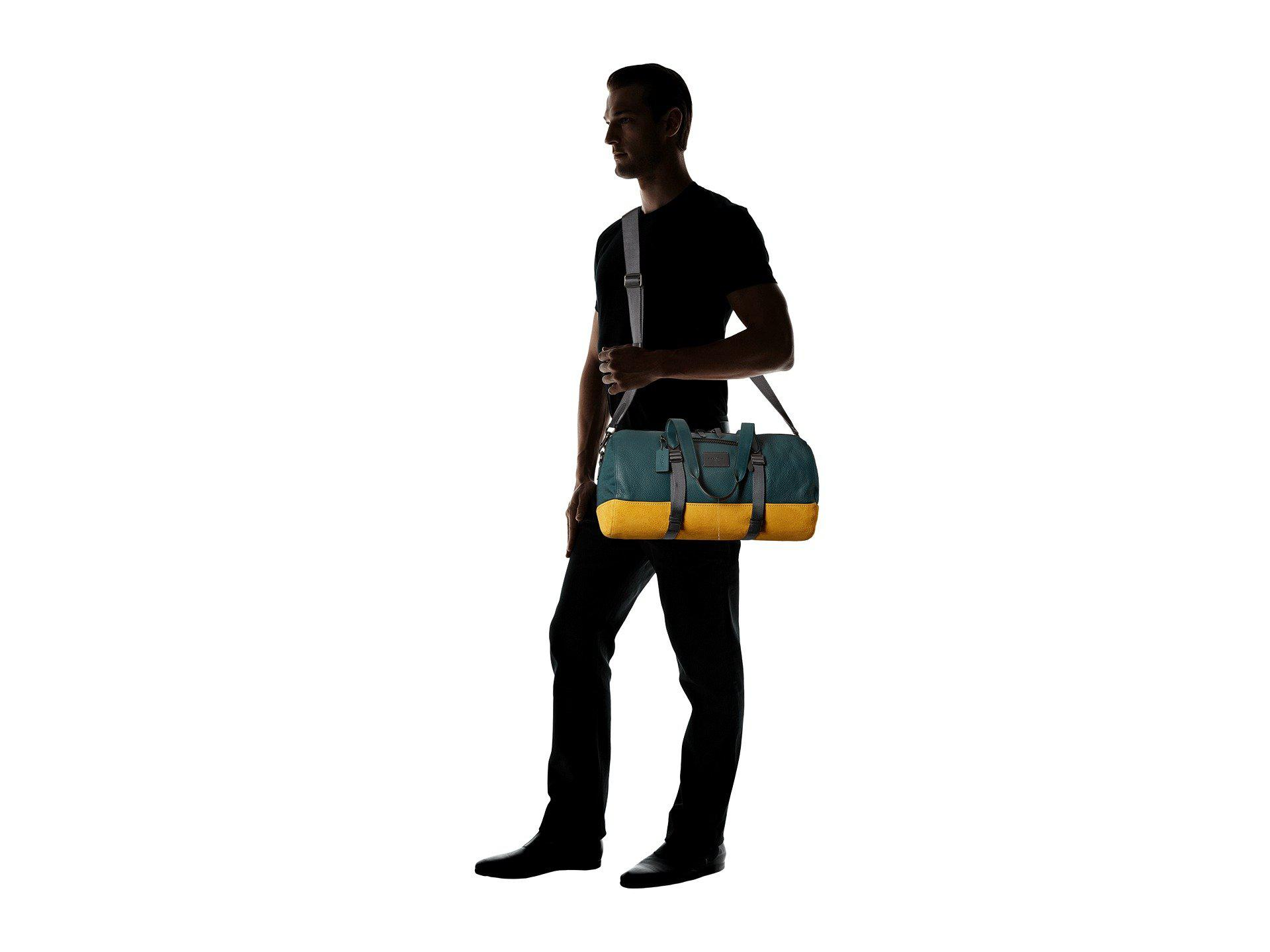 a9772e6768a9 Lyst - COACH Metropolitan Soft Gym Bag in Blue for Men