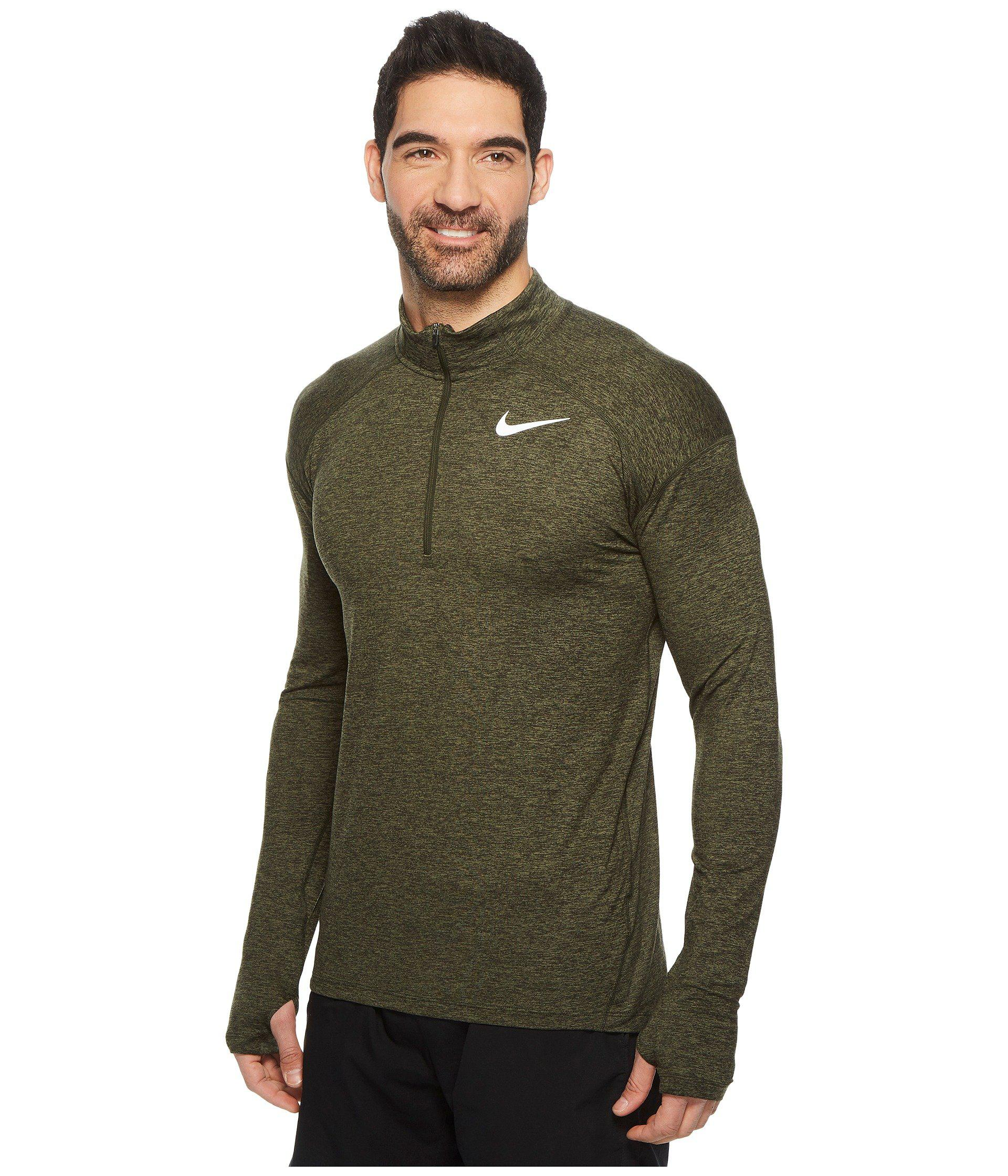 57564022f6163 Nike - Green Dry Element 1 2 Zip Running Top for Men - Lyst. View fullscreen