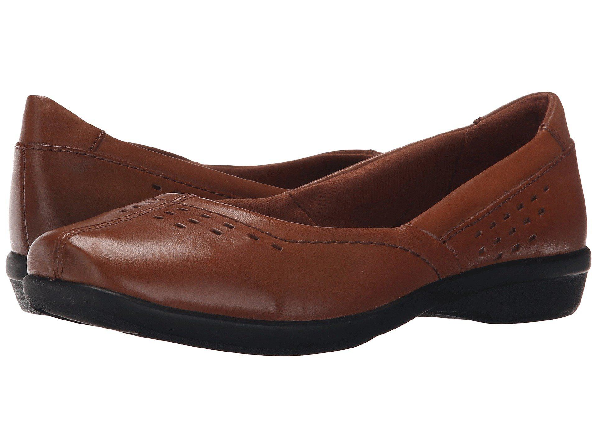 Womens Shoes Clarks Haydn Shipper Tan Leather