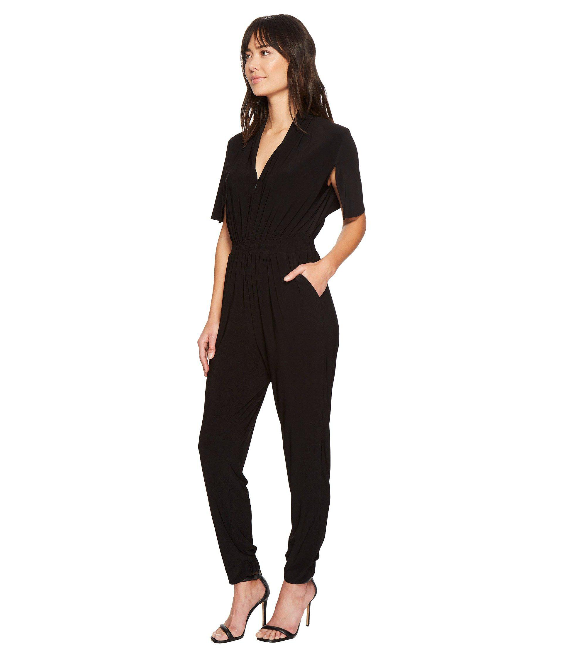 18aeb754bea Lyst - Laundry by Shelli Segal Jersey Jumpsuit in Black - Save 14%
