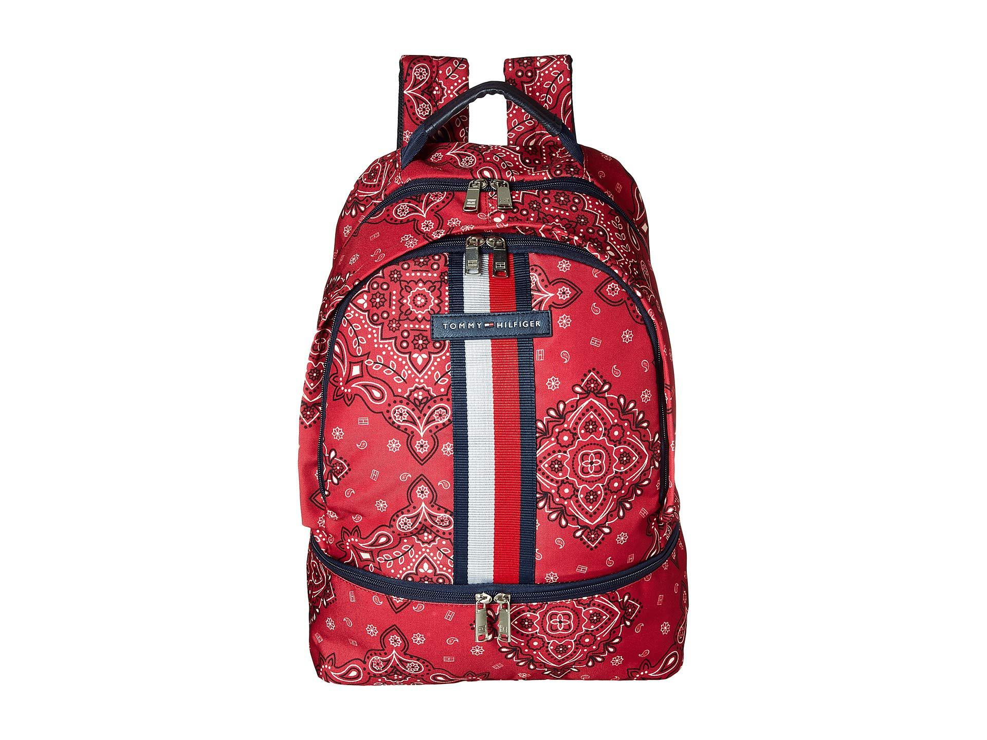 cd714001 Tommy Hilfiger American Bandana Backpack (blue) Backpack Bags in Red ...