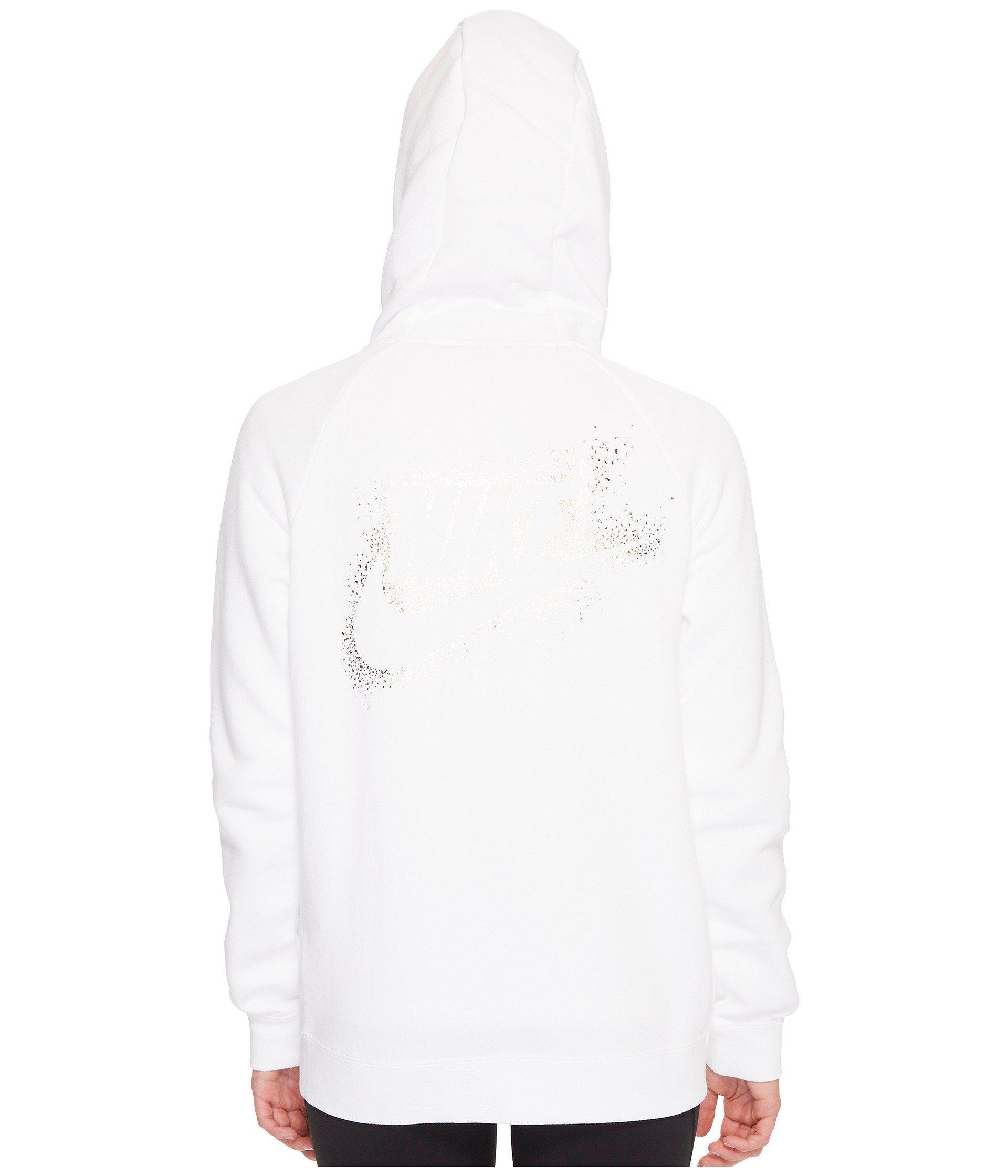 1ede7f9c34b8 Lyst - Nike Sportswear Rally Metallic Full-zip Hoodie in White