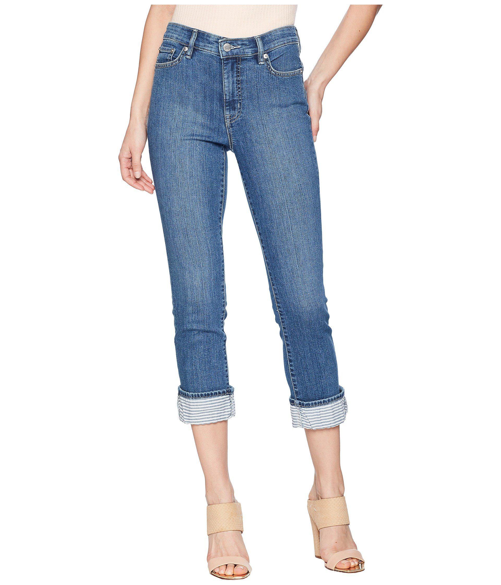 55b2f0f9874ab Lyst - Lauren by Ralph Lauren Premier Straight Crop Jeans in Blue ...