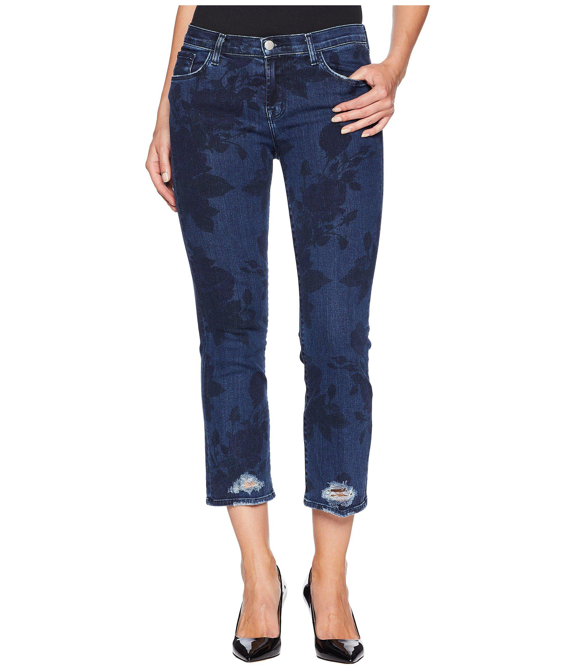 485dafb3c517 Lyst - J Brand Selena Mid-rise Crop Boot Cut Jeans In Cotillion in ...