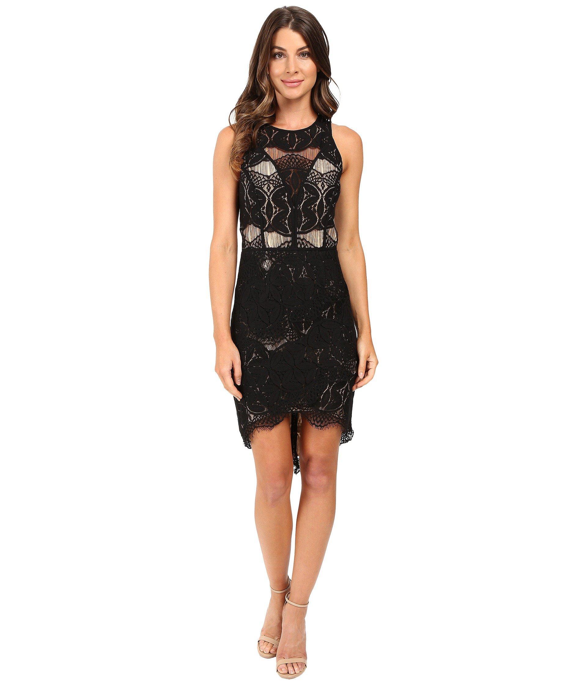 48c2043fbc Lyst - Adelyn Rae Lace Shirt Tail Dress in Black