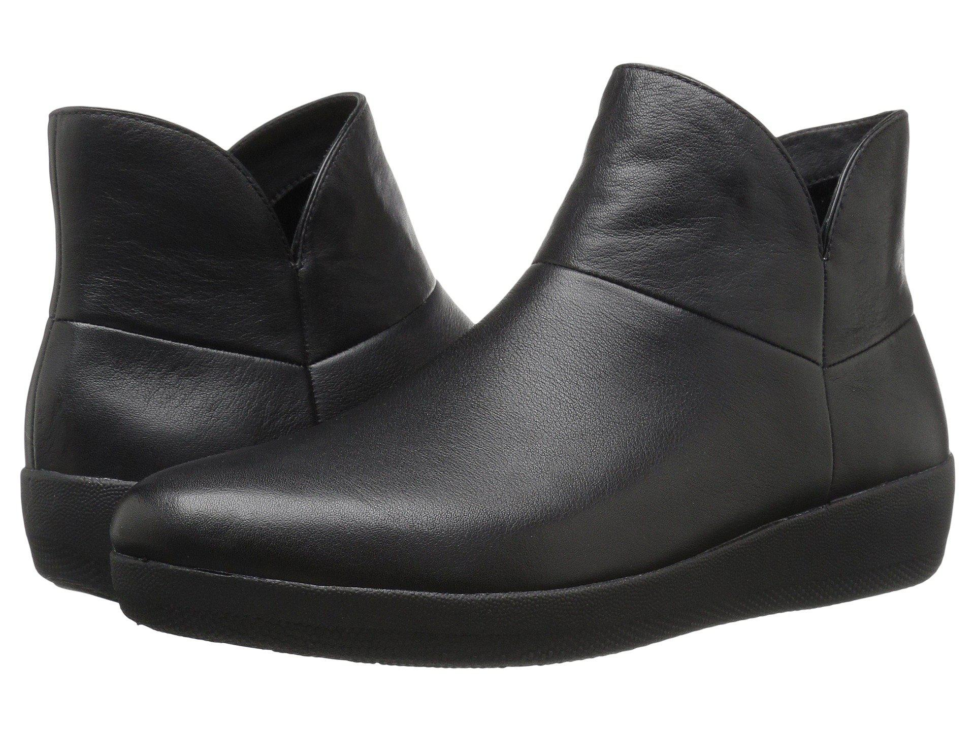 0c42fe69a2680f Lyst - Fitflop Supermod Leather Ankle Boot in Black