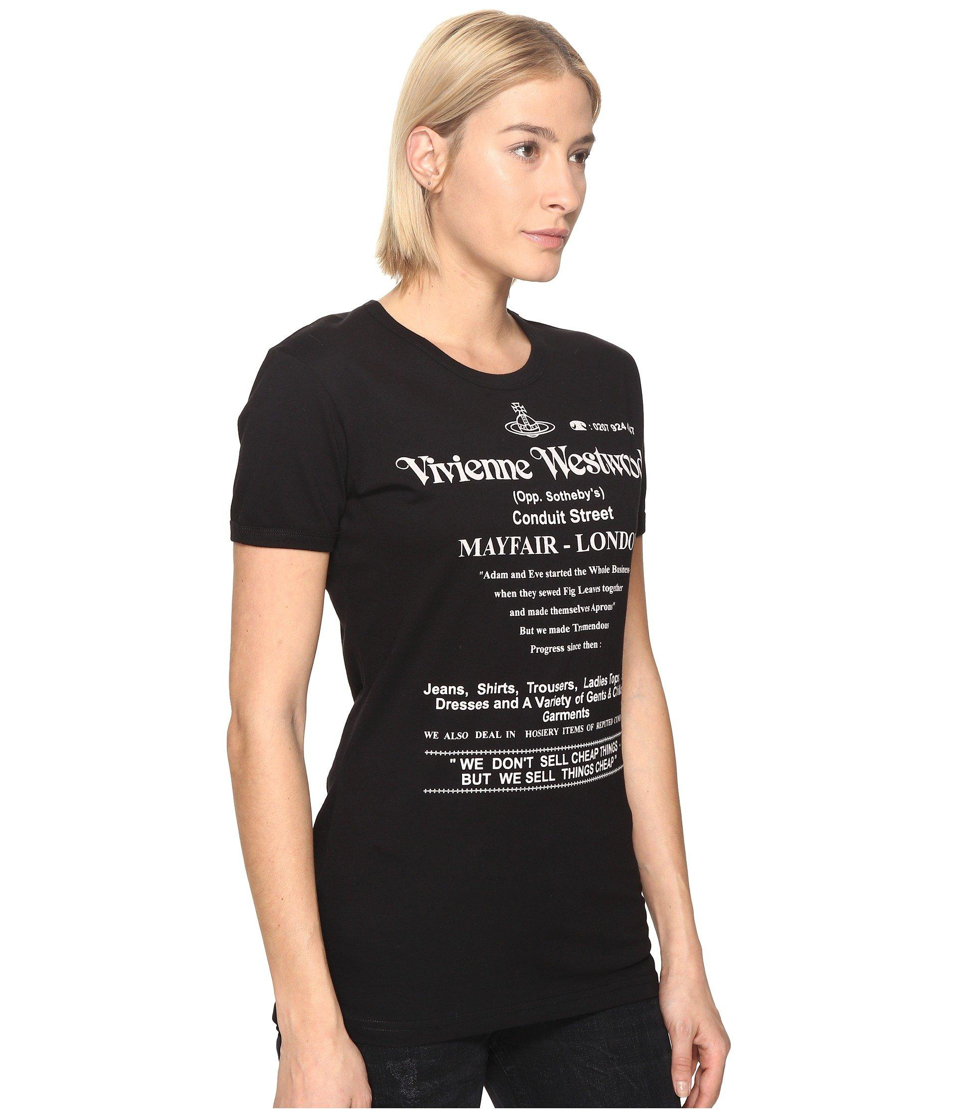 9bfa0cf15e Vivienne Westwood We Don't Sell Cheap Things Top in Black - Lyst