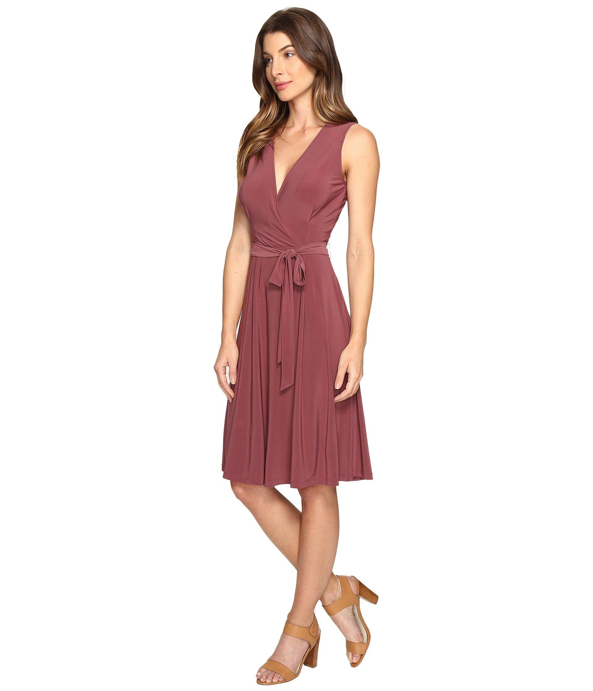 B Collection By Bobeau Addie Wrap Dress In Red Lyst