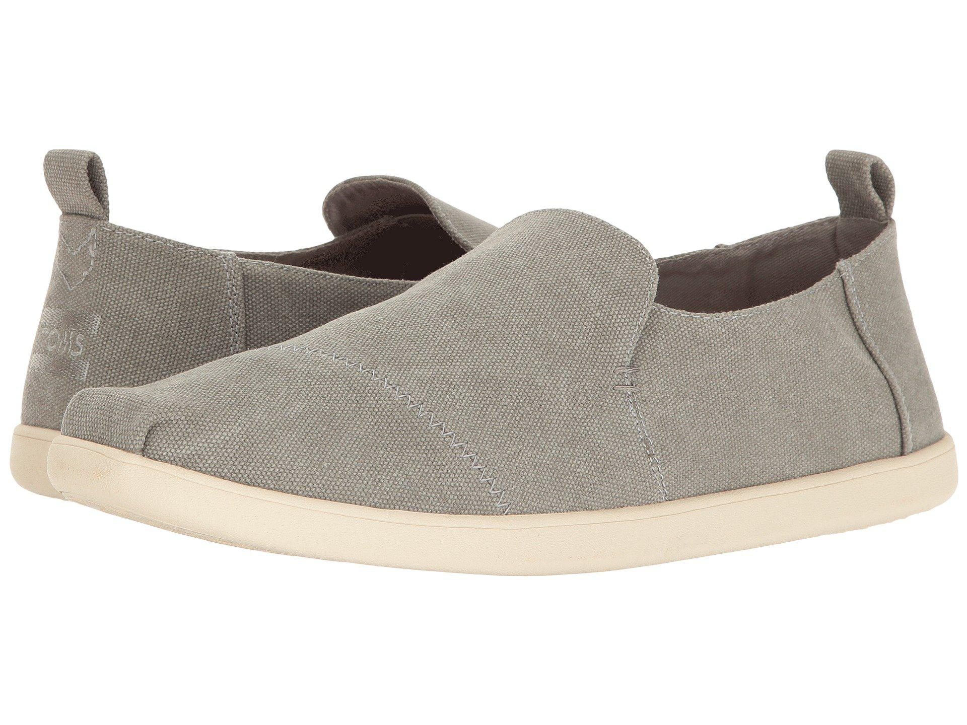 Buy Drizzle Grey Washed Canvas Toms Deconstructed Alpargata Mens Shoes