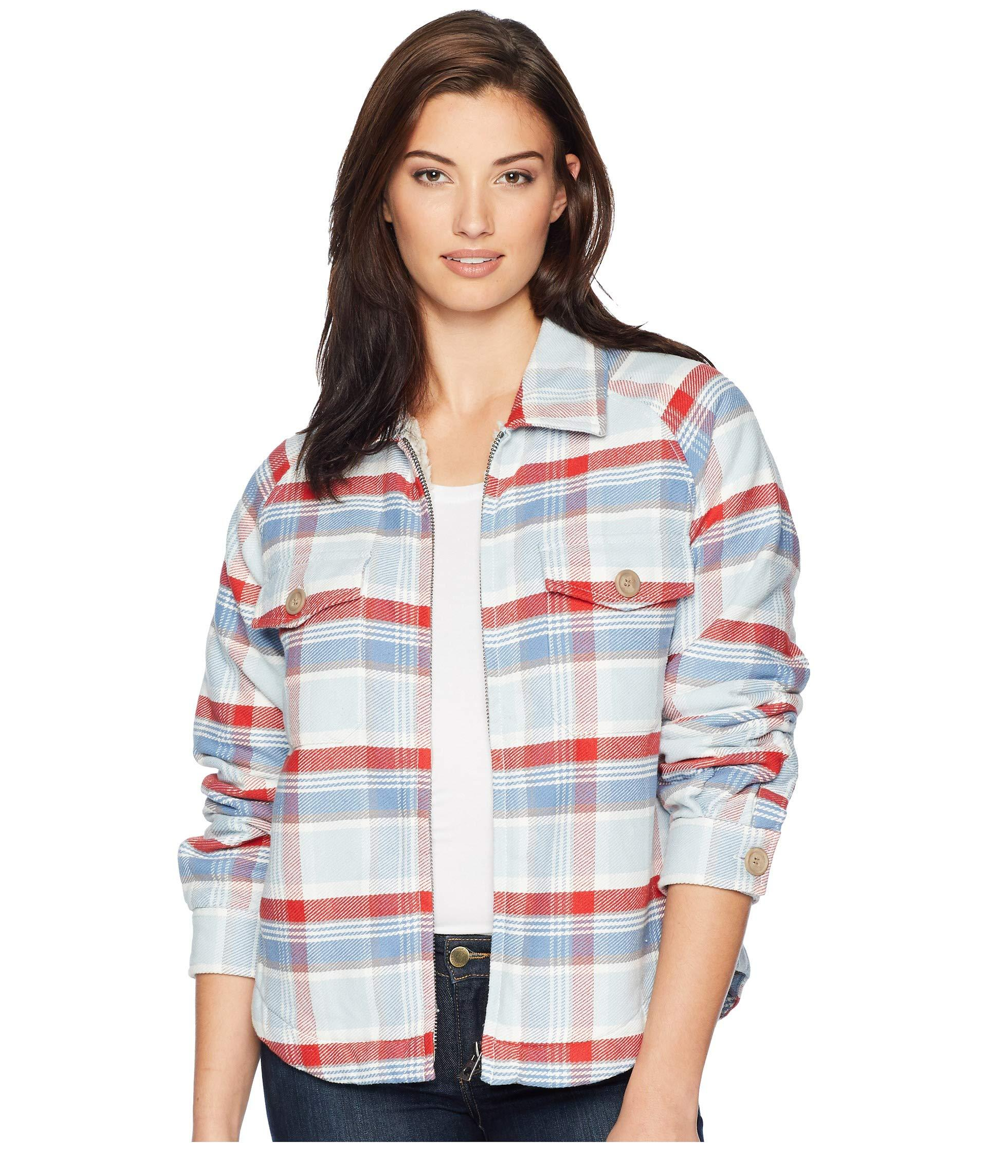 0958e78cc Lyst - Dylan By True Grit Big Sky Plaid Zip Jacket With Sherpa ...