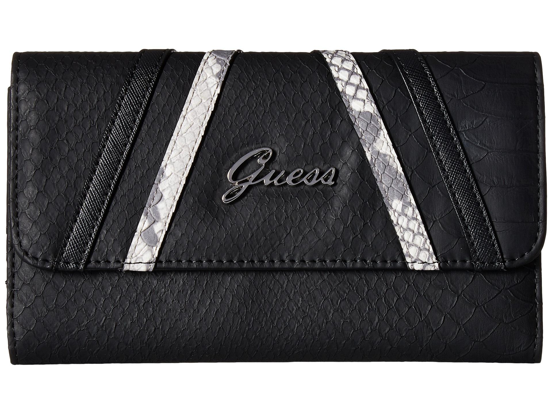 138698d00d Lyst - Guess Alton Flap Clutch in Black