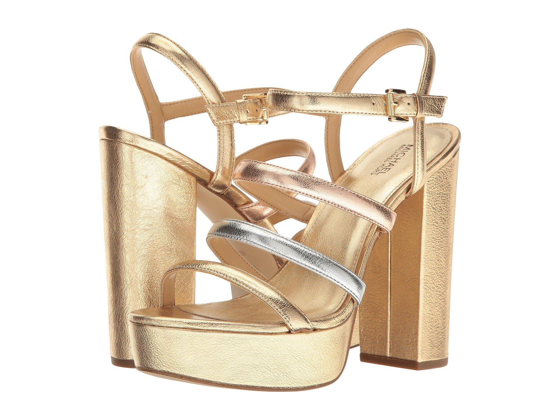 762df091c89 Lyst - MICHAEL Michael Kors Nantucket Platform in Metallic