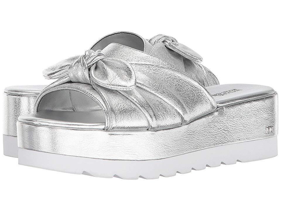 6e60ea76b1 MICHAEL Michael Kors. Women's Pippa Slide (silver Metallic Nappa) Sandals
