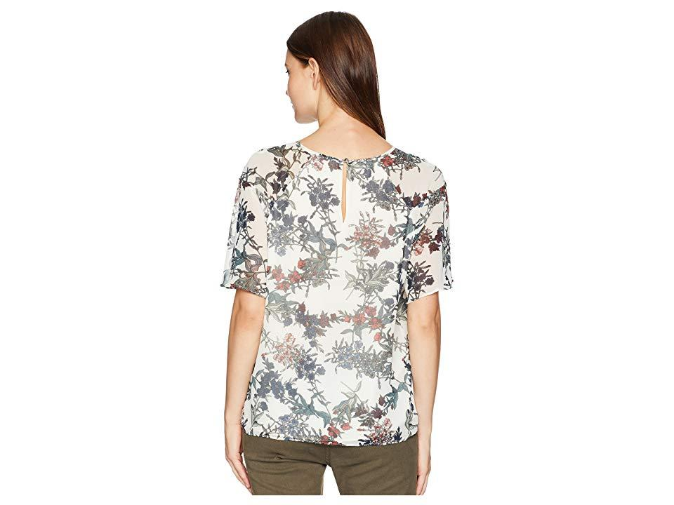 dfdfb2446d7f71 Vince Camuto - Ruffled Short Sleeve Garden Heirloom Floral Blouse (antique  White) Blouse -. View fullscreen