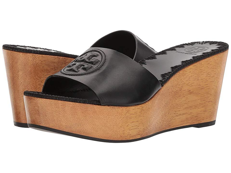 212202db873e2 Tory Burch Patty 80mm Wedge Slide (perfect Black) Slide Shoes in ...