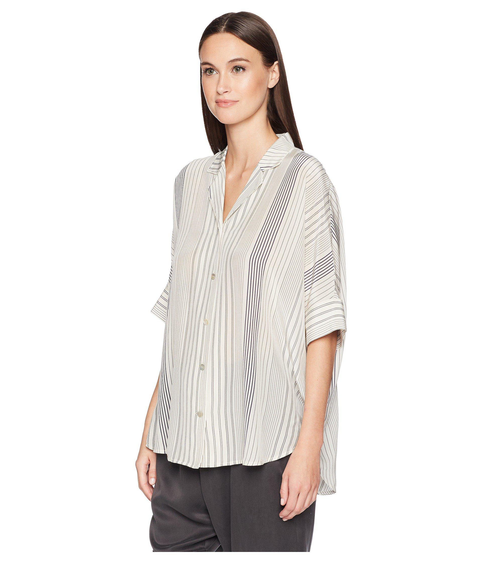 bb7239acd131a Lyst - Eileen Fisher Silk Dolman Button-down Top - Save 70%