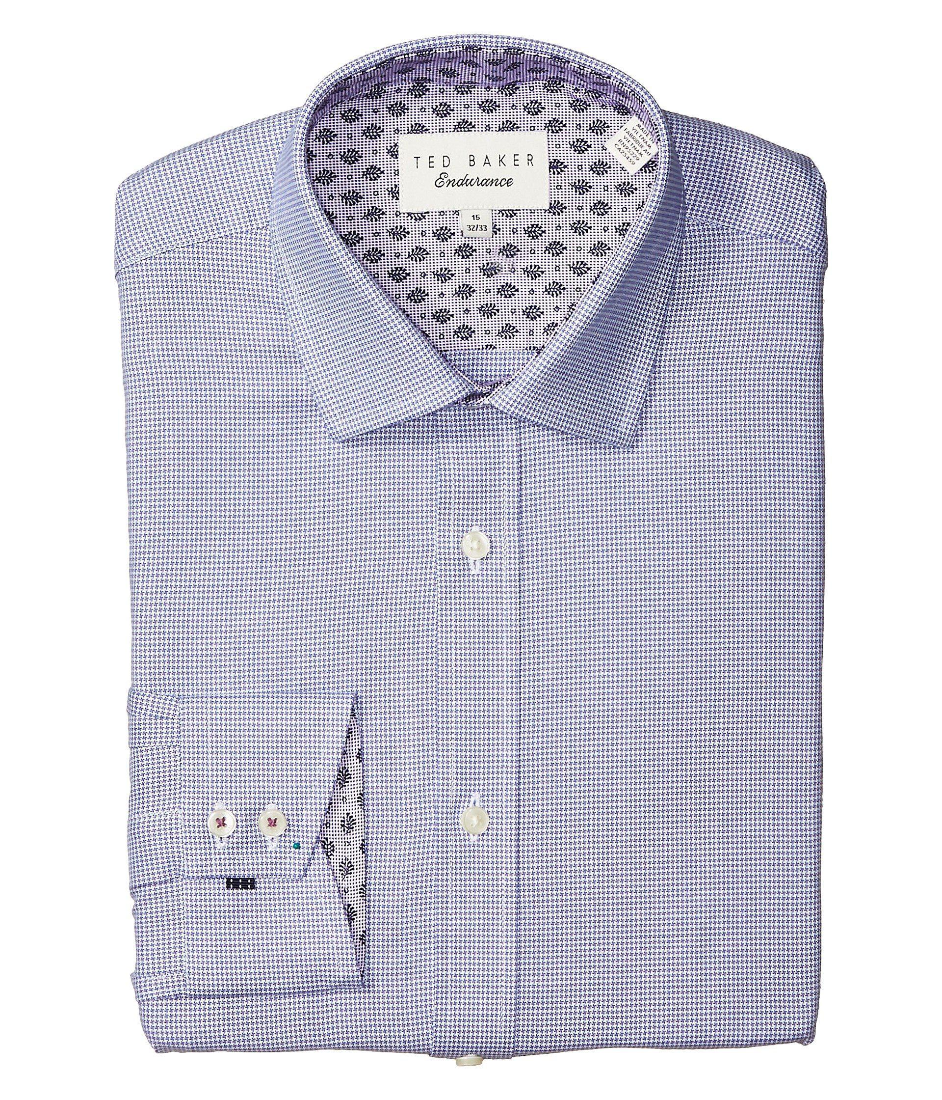 ca6ab6b6fd0472 Lyst - Ted Baker Renton Slim Fit Dress Shirt in Purple for Men