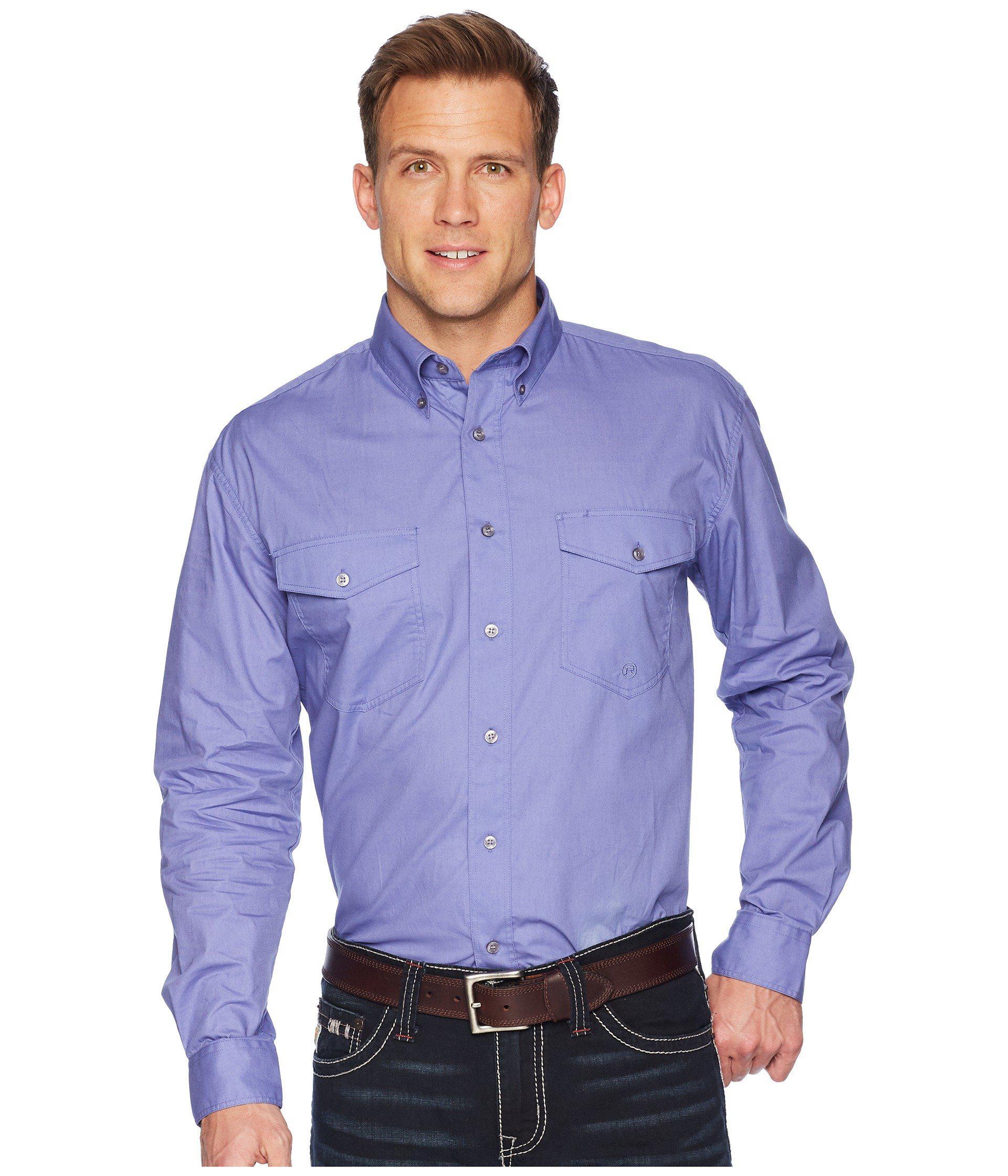 86fdb878cd29 Lyst - Roper 1528 Solid Poplin in Purple for Men - Save 44%