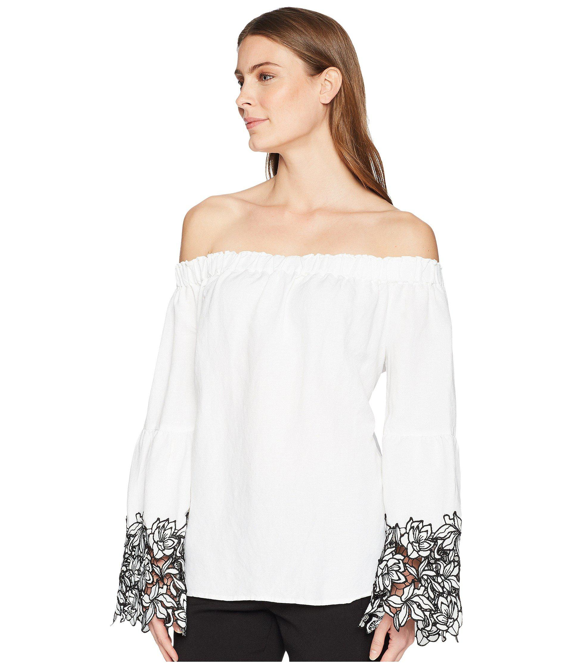 b806e351254 Lyst - Karen Kane Off The Shoulder Top in White - Save 56%