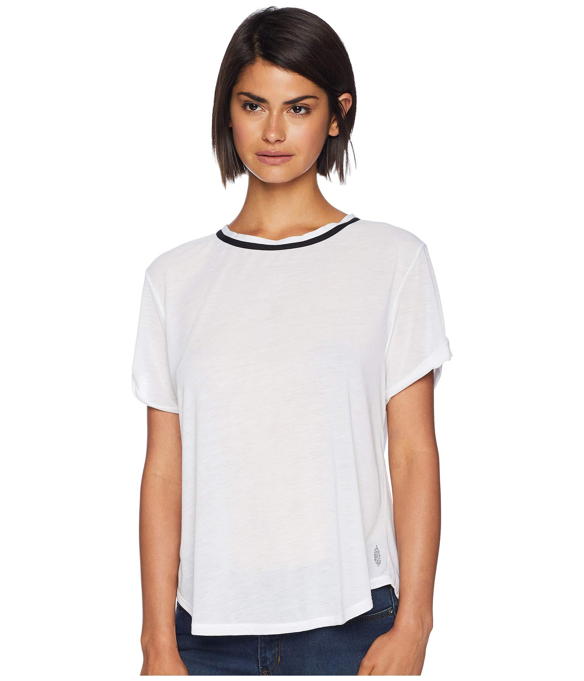 e7a25f4ec Lyst - Free People Zephyr Tee in White