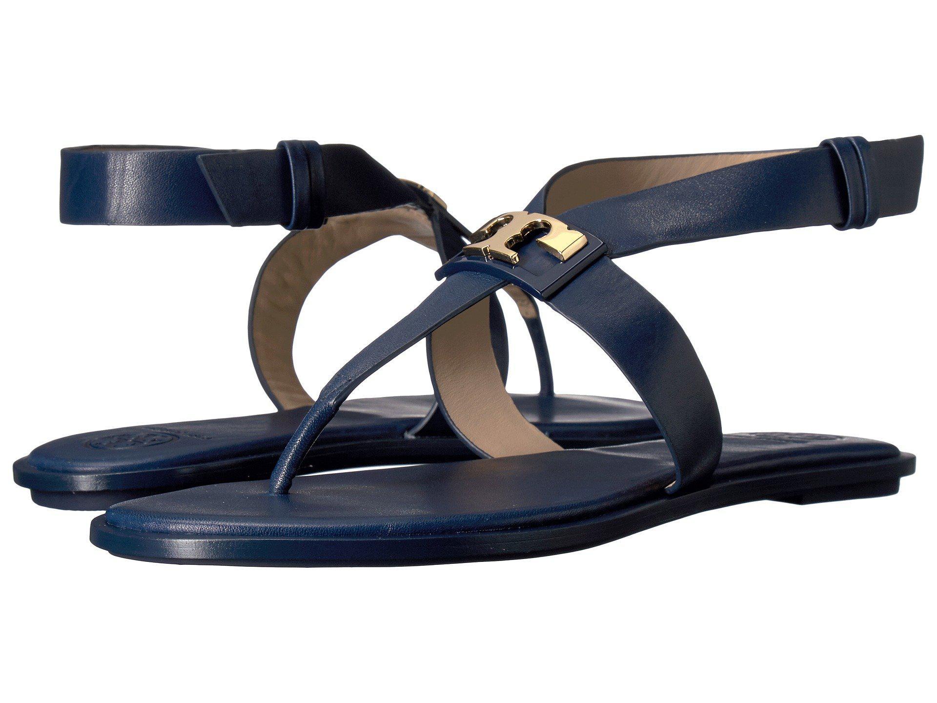 c37c737ba4e8f5 Lyst - Tory Burch Gigi Flat Sandal in Blue