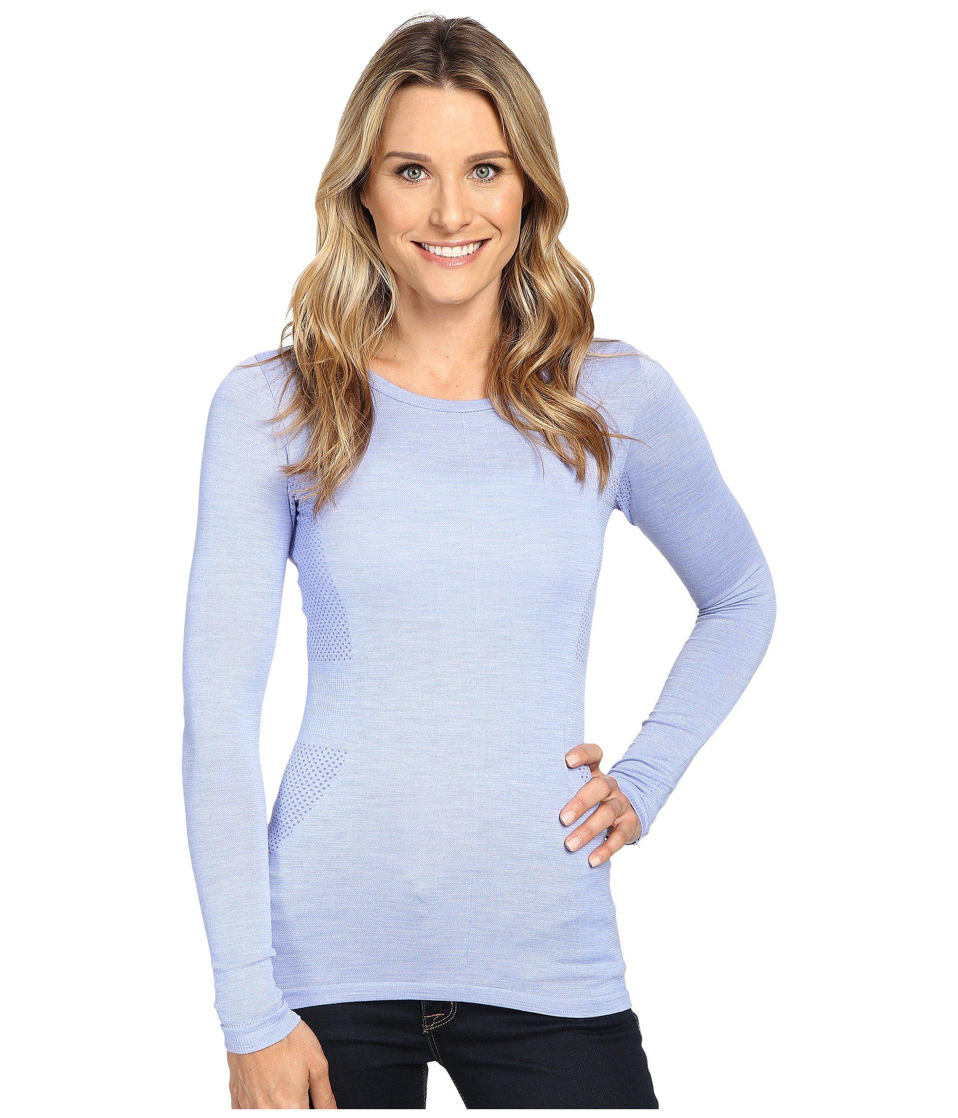 The North Face. Women's Blue Long Sleeve Go Seamless Wool Top