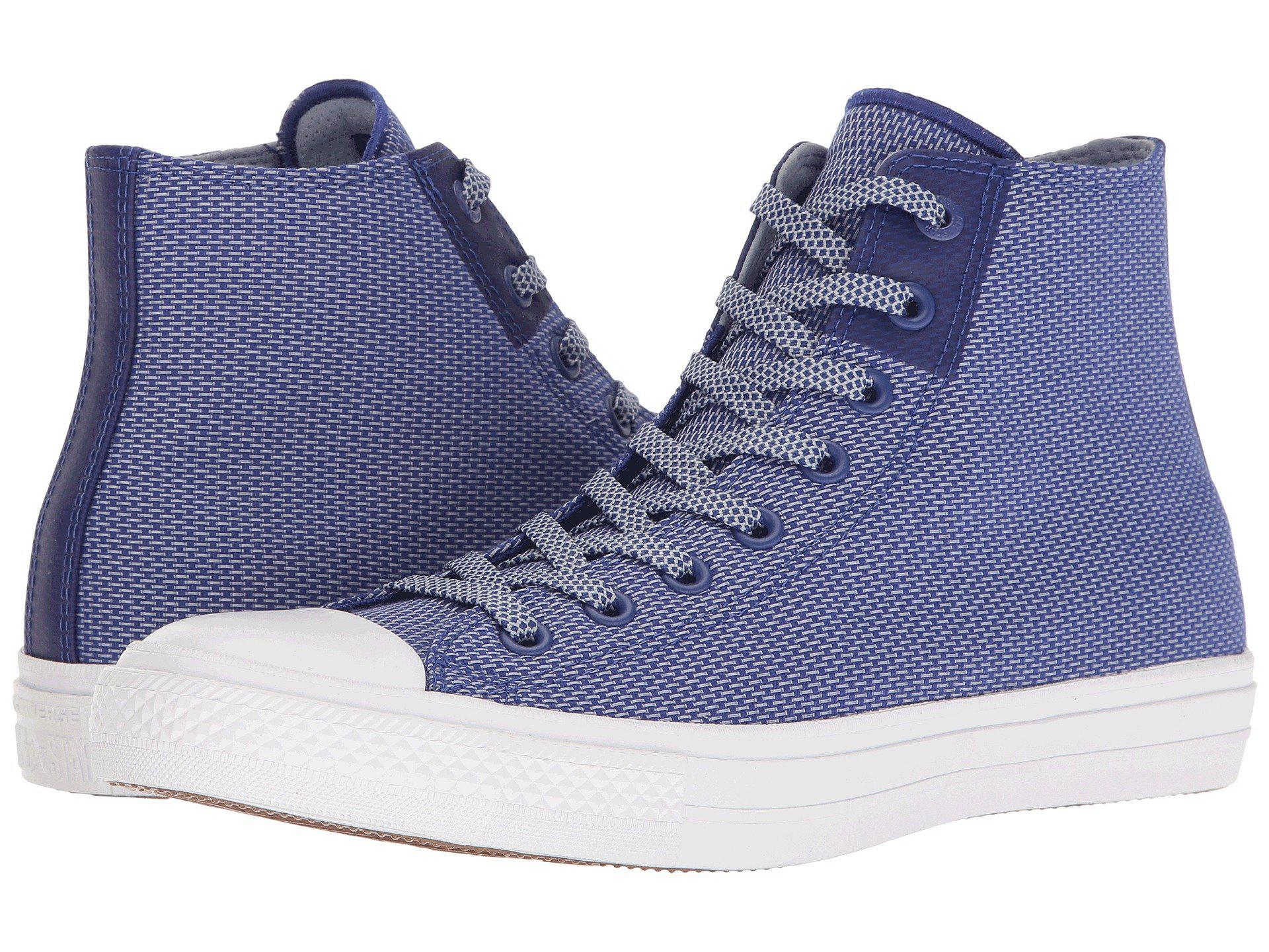 2b6e1d89d566 Lyst - Converse Chuck Taylor® All Star® Chuck Ii Woven Hi in Blue ...