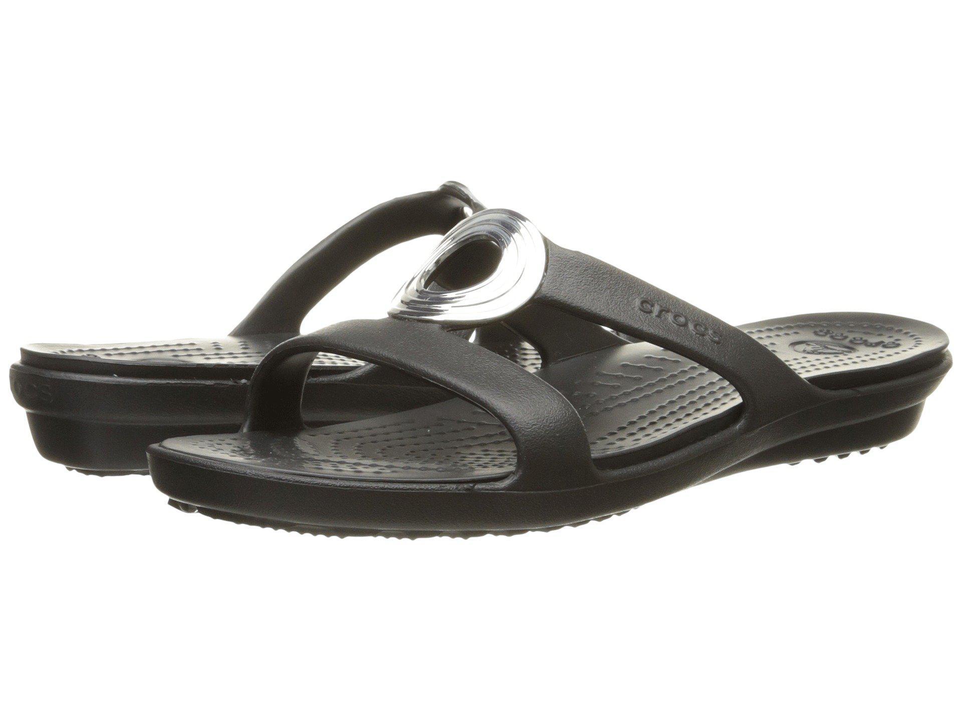 25e9c275daea Lyst - Crocs™ Sanrah Beveled Circle Sandal in Black