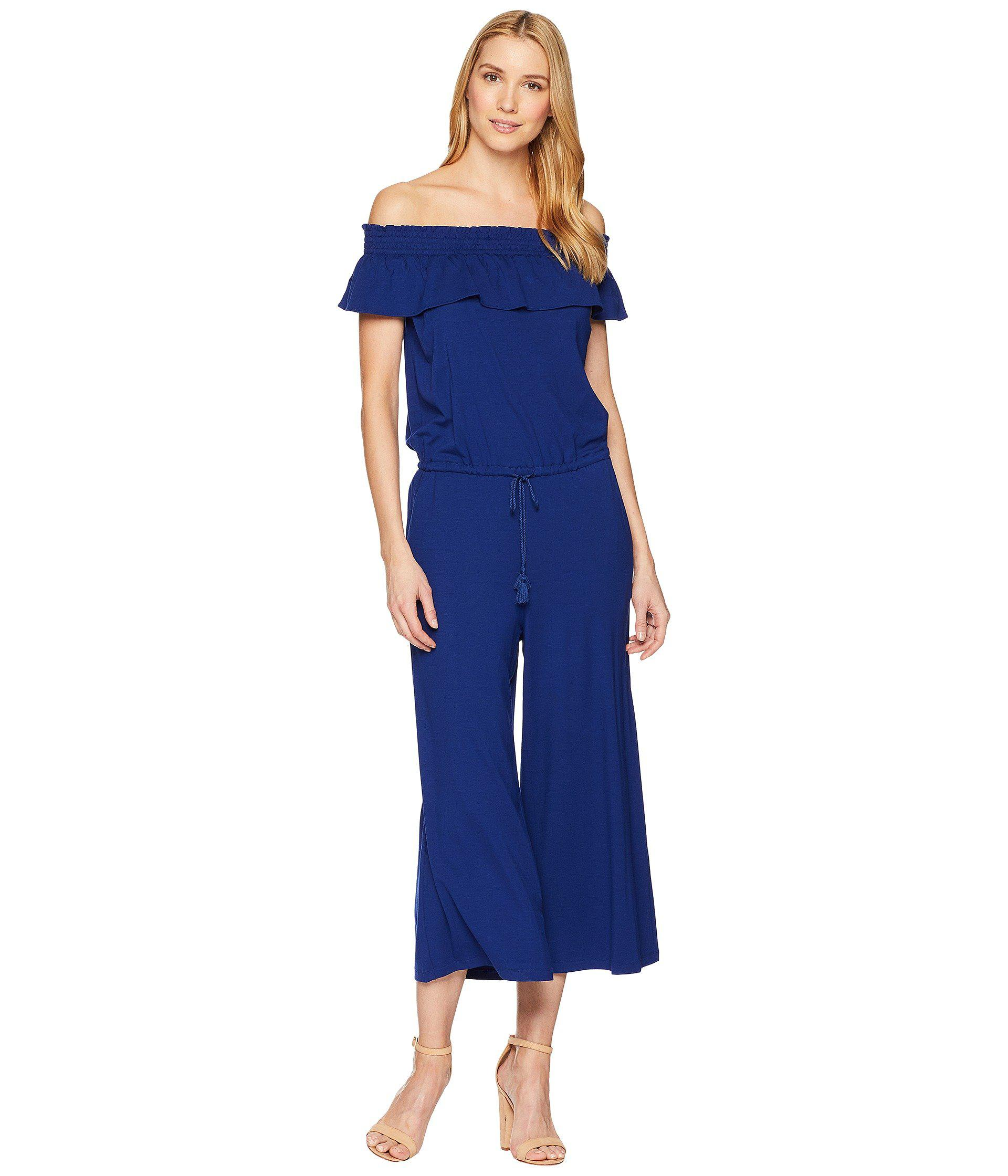 dffc8f2ae510 Lyst - Lauren by Ralph Lauren Off The Shoulder Wide-leg Jumpsuit in ...