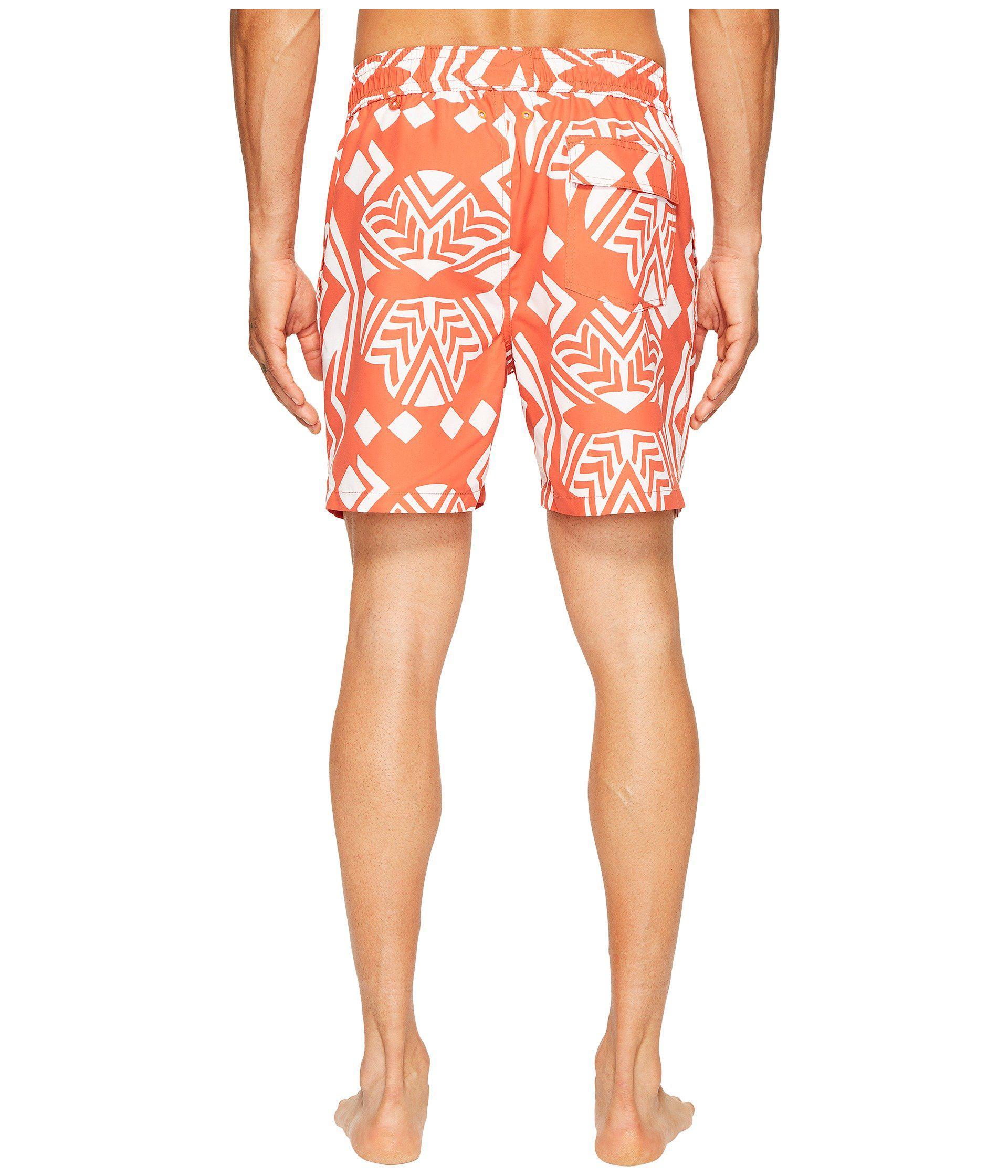 432bb9750e Lyst - Jack Spade Exploded Mexican Flower Swim Trunks in Orange for Men