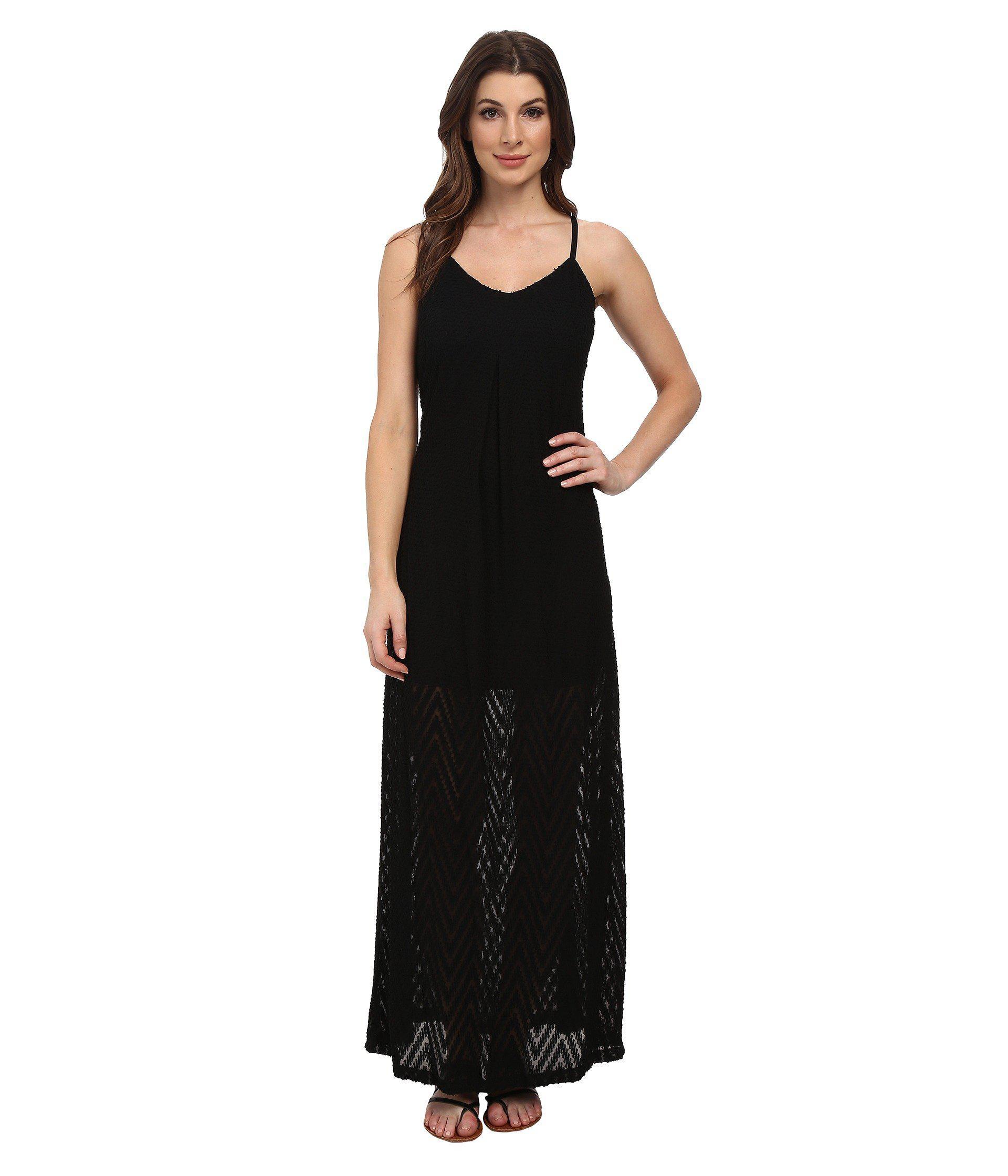 Calvin Klein Slip Strap Maxi Dress In Black Lyst