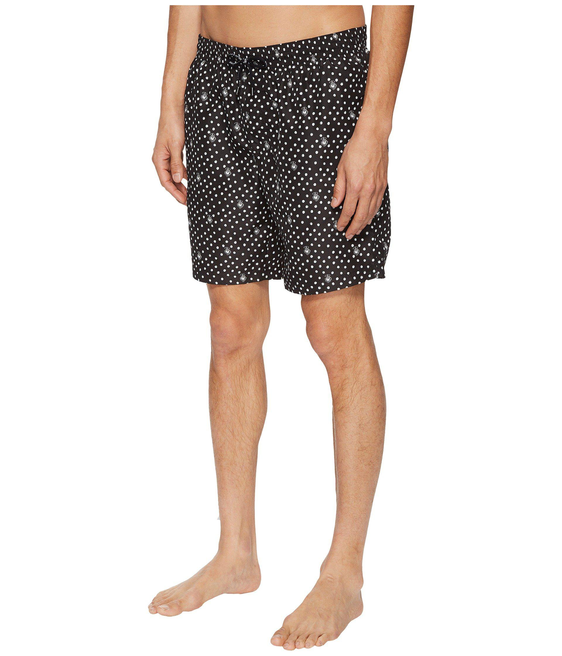 955c1d07781a Lyst - Dolce   Gabbana Mid Length Polka Dot Swimsuit Boxer W  Bag in Black  for Men