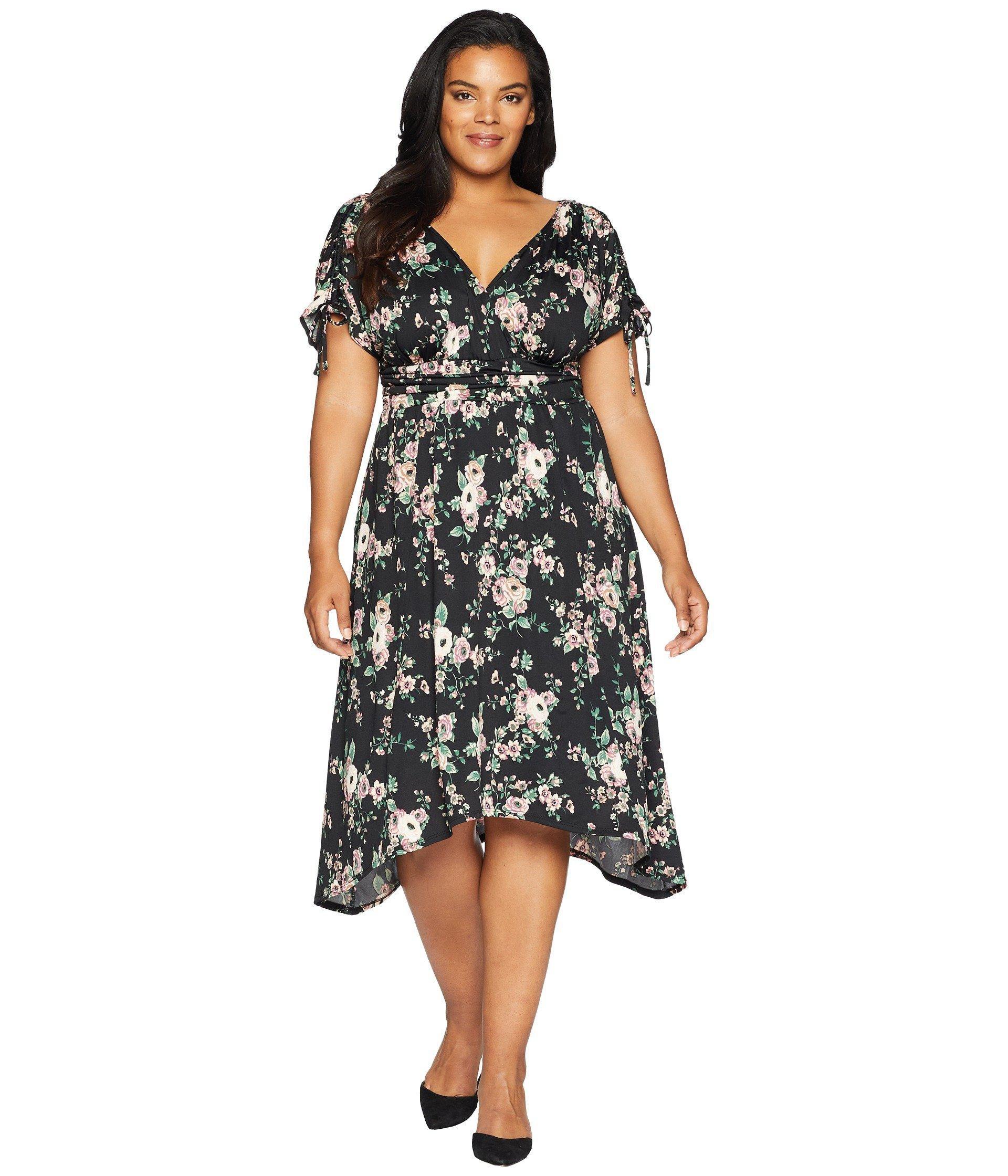 9fa56457dcc Lyst - Kiyonna Tessa Ruched Dress in Black