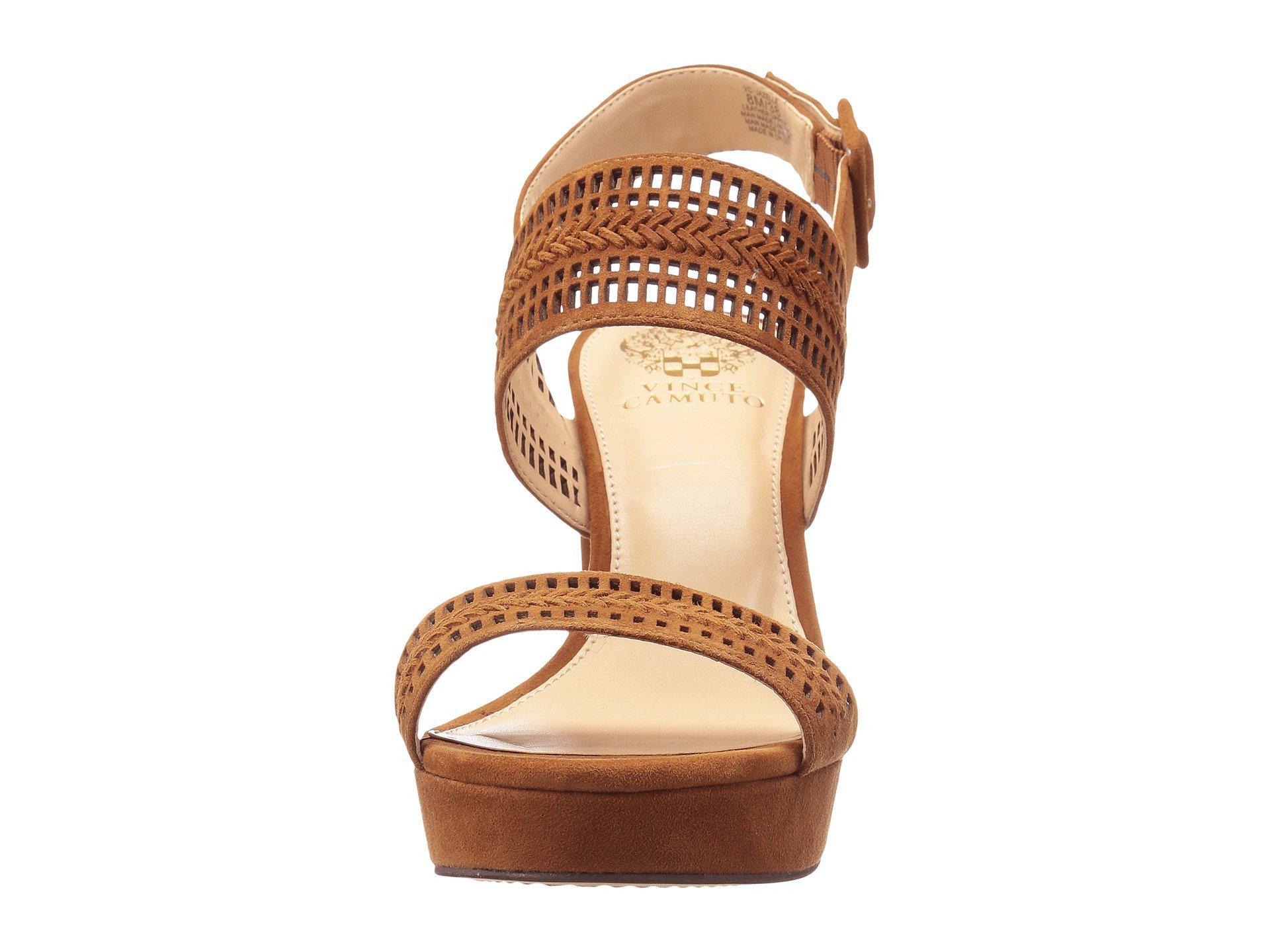 25ecfeaec1a Vince Camuto - Brown Jazelle Suede Cutout Detail Slingback Block Heel Dress  Sandals - Lyst. View fullscreen