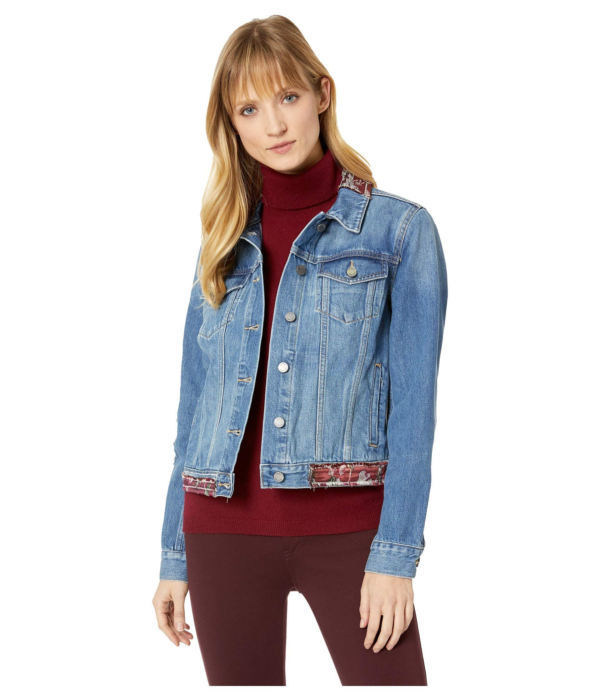 9f72bbabb3 Two By Vince Camuto. Women s Blue Tapestry Patchwork Classic Denim Jacket