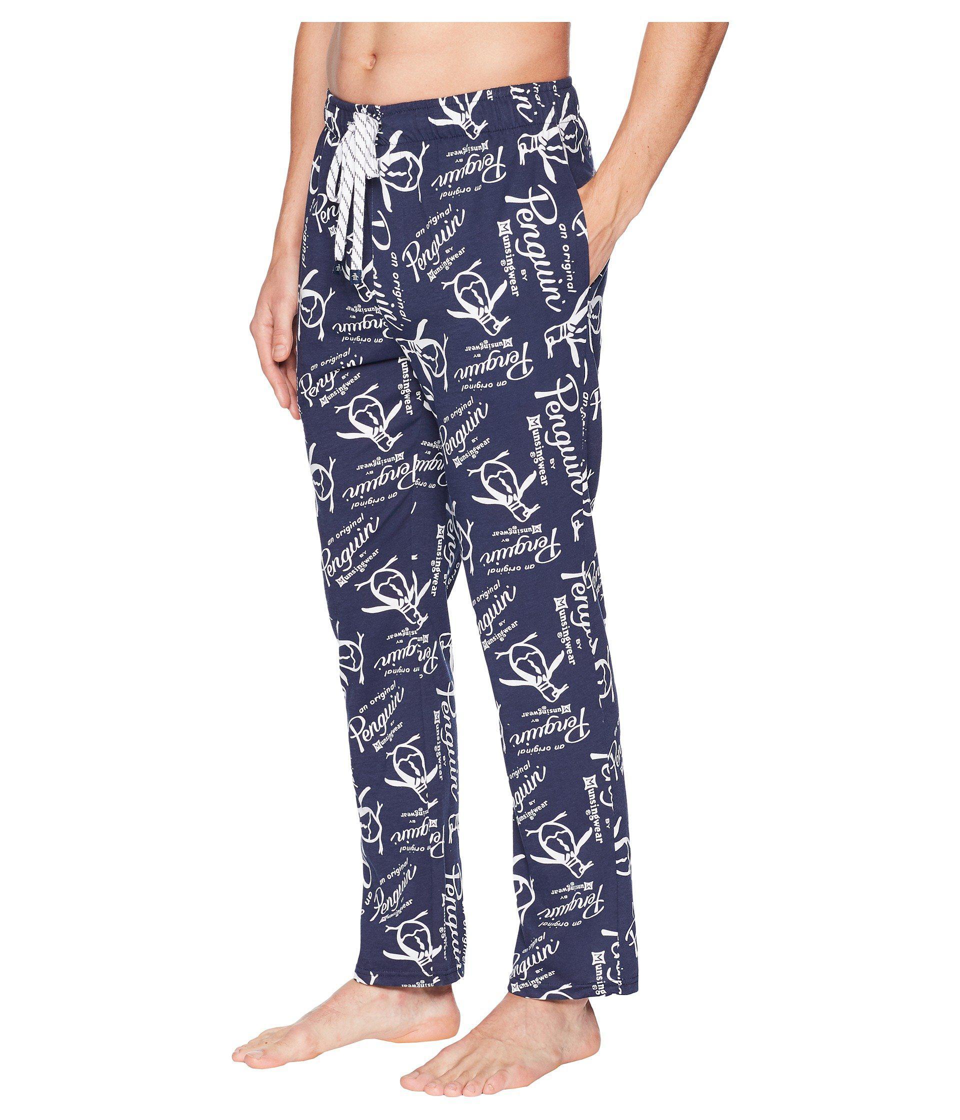 180bb6a7ee Lyst - Original Penguin Lounge Pants - Logo in Blue for Men - Save 39%