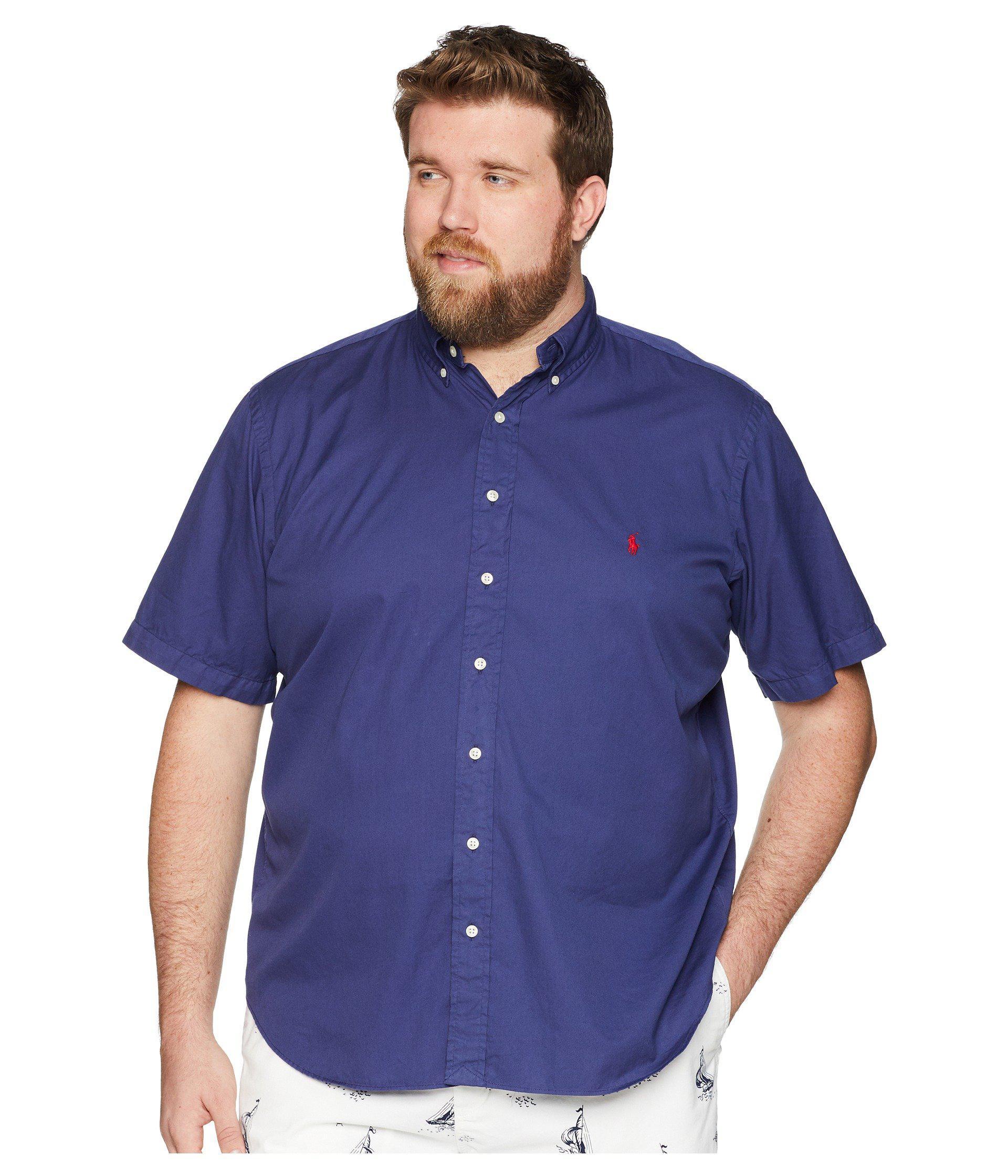 74dd0dcd71b5 Lyst - Polo Ralph Lauren Big   Tall Garment Dyed Chino Short Sleeve ...