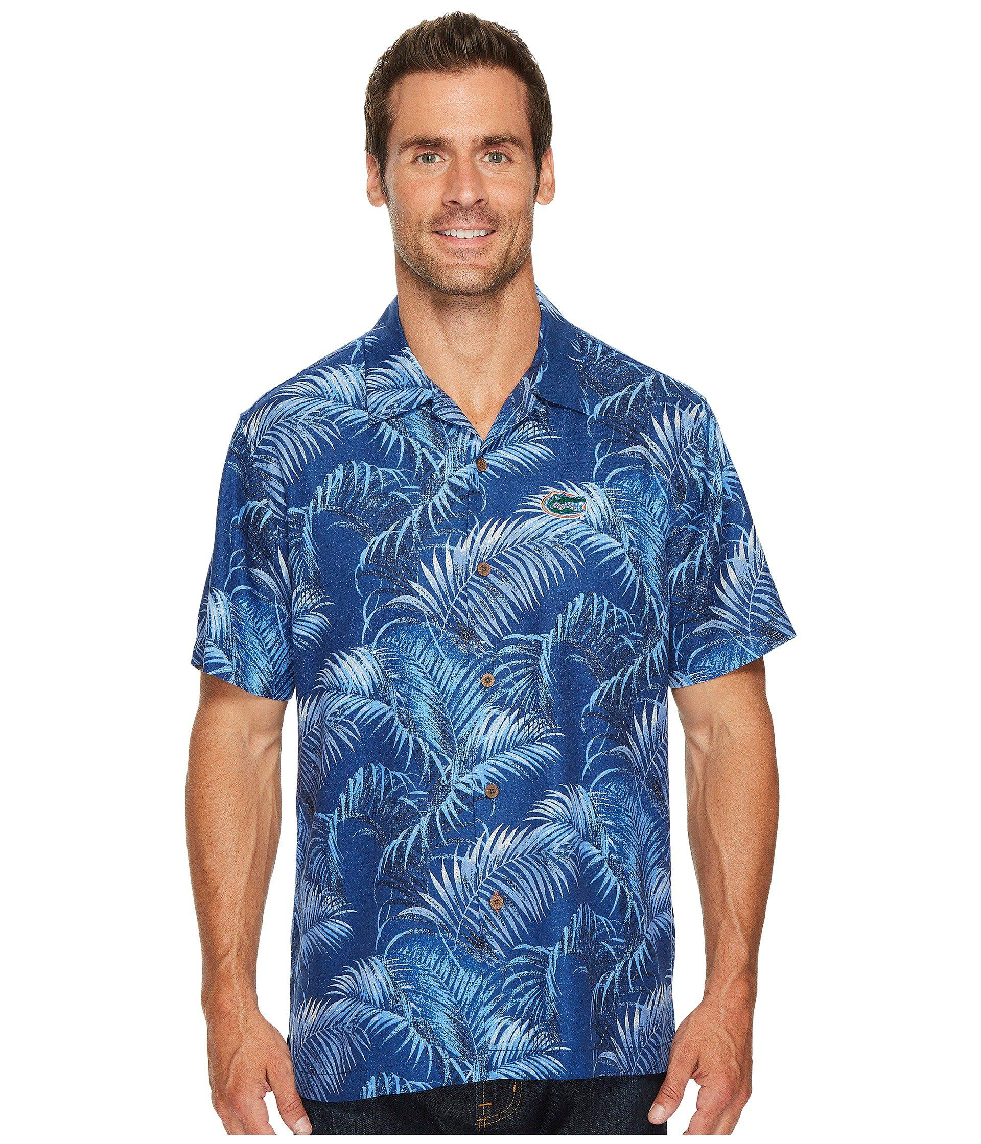 Lyst Tommy Bahama University Of Florida Fez Fronds Shirt In Blue