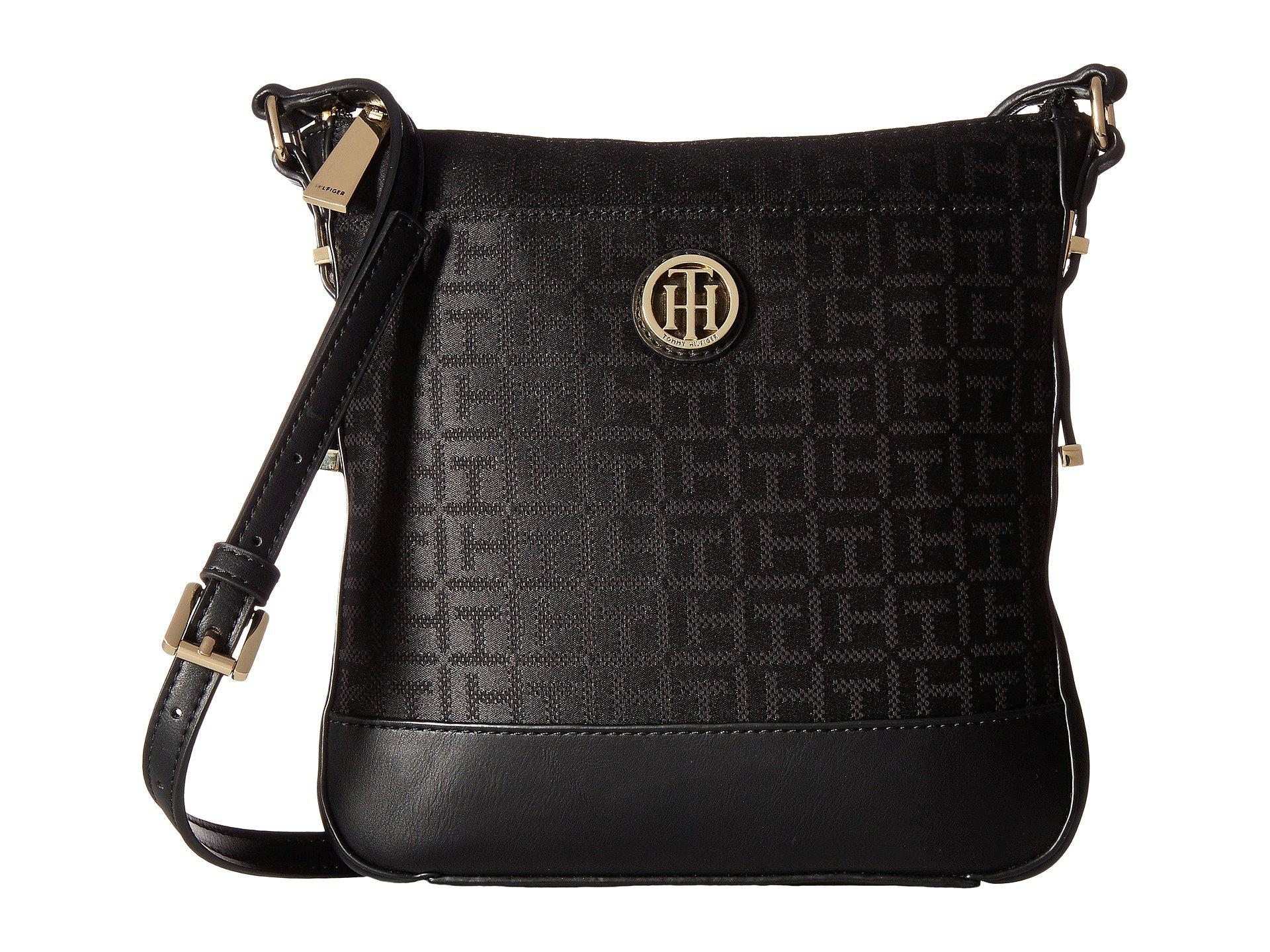 aa21540acc Tommy Hilfiger Gillian North south Crossbody in Black - Lyst