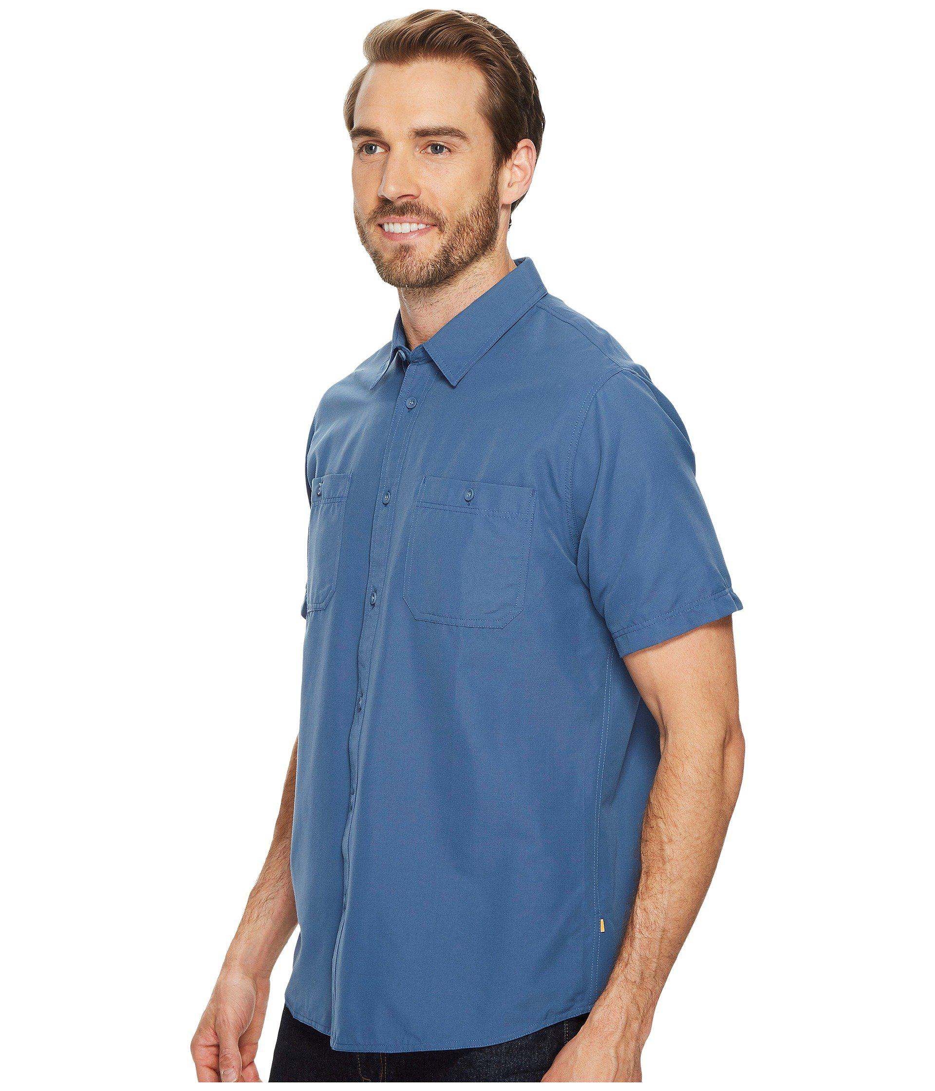 9819d3066c0 Lyst - Quiksilver Wake Solid Short Sleeve Woven Shirt in Blue for Men