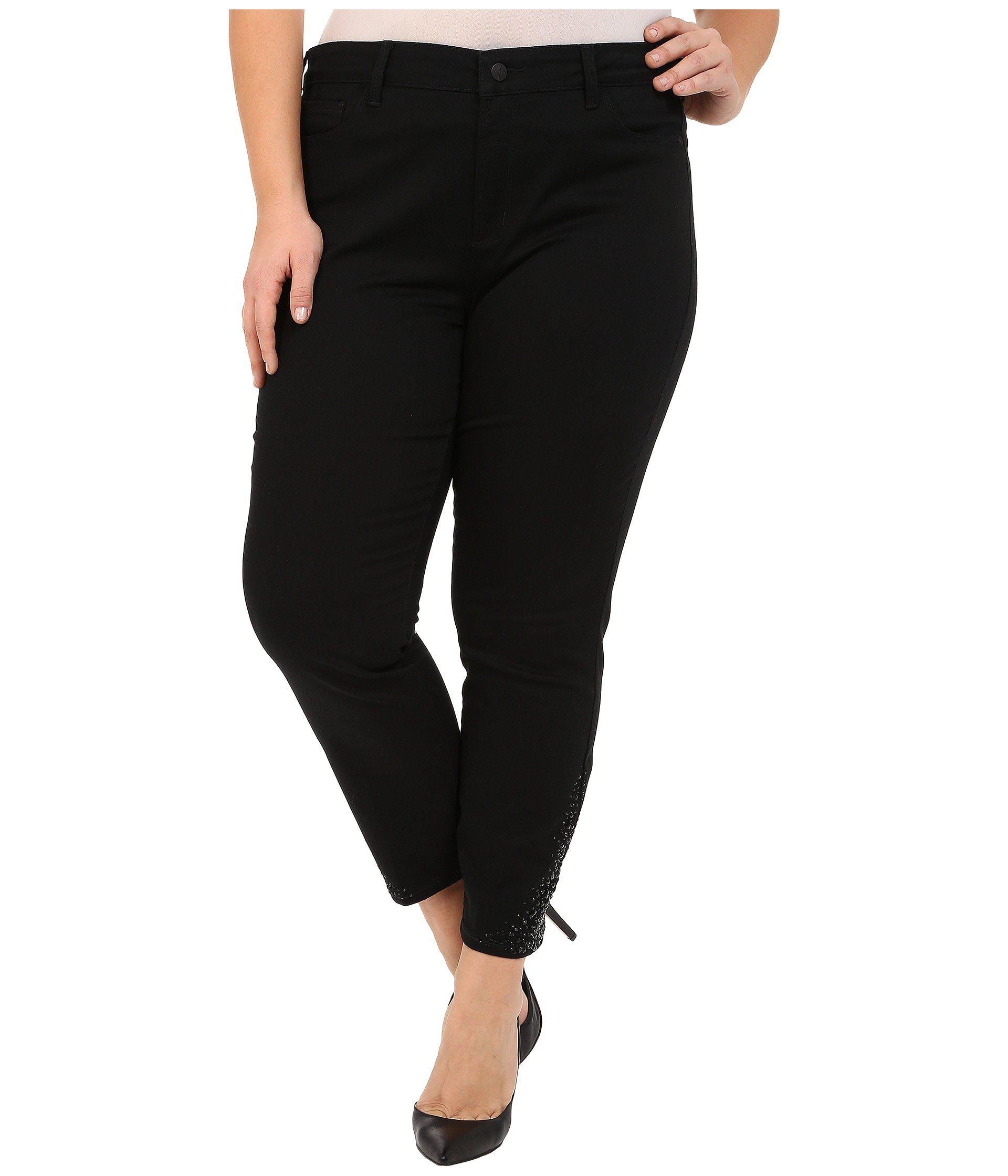22b85edcaad54 Lyst - Nydj Plus Size Amira Fitted Ankle In Black in Black