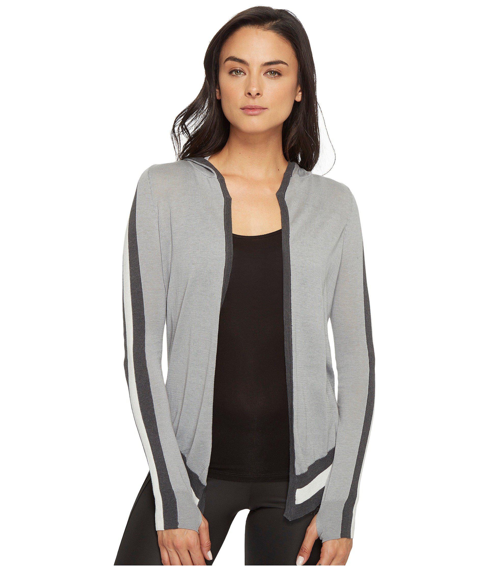 Blanc noir Hooded Wrap Cardigan in Gray - Save 57% | Lyst