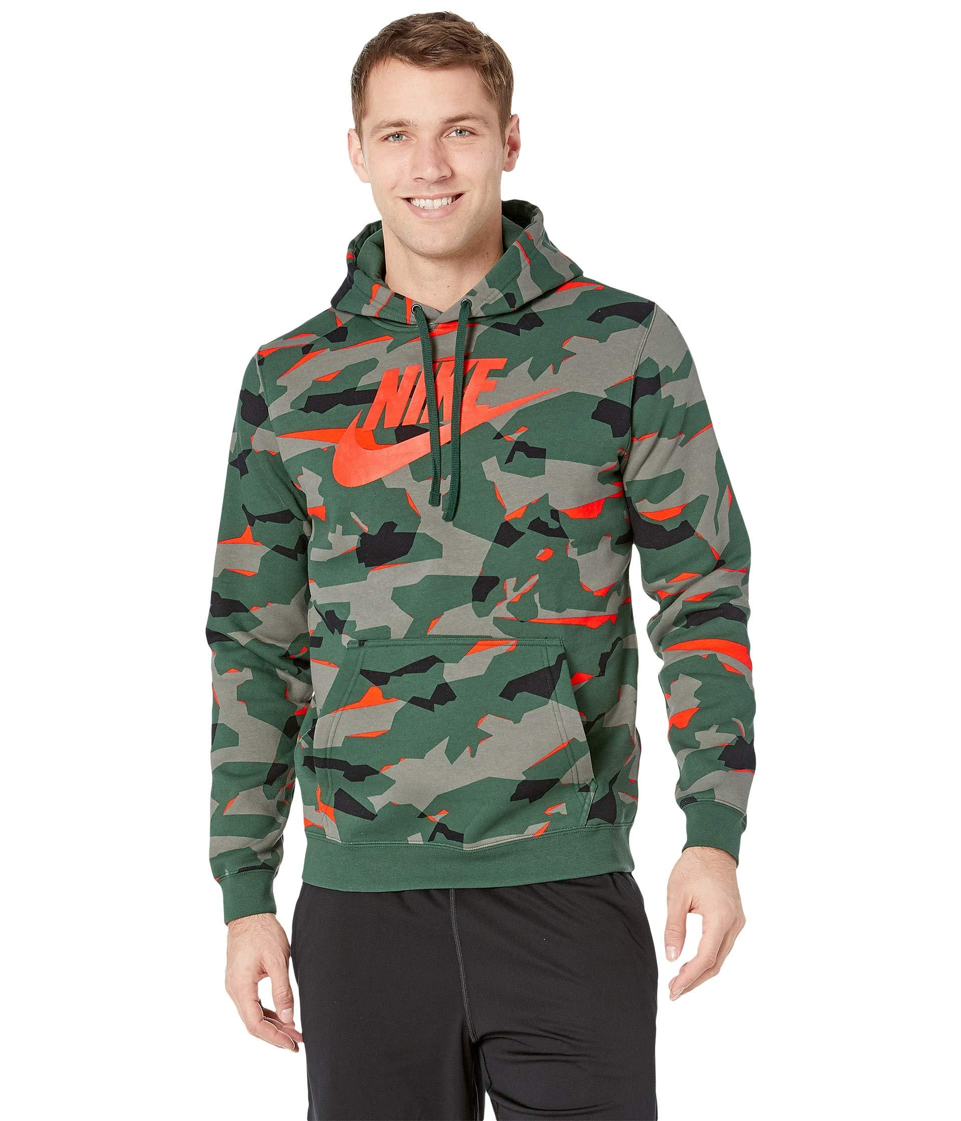 a0f81791acdf Lyst - Nike Nsw Club Camo Pullover Hoodie in Green for Men
