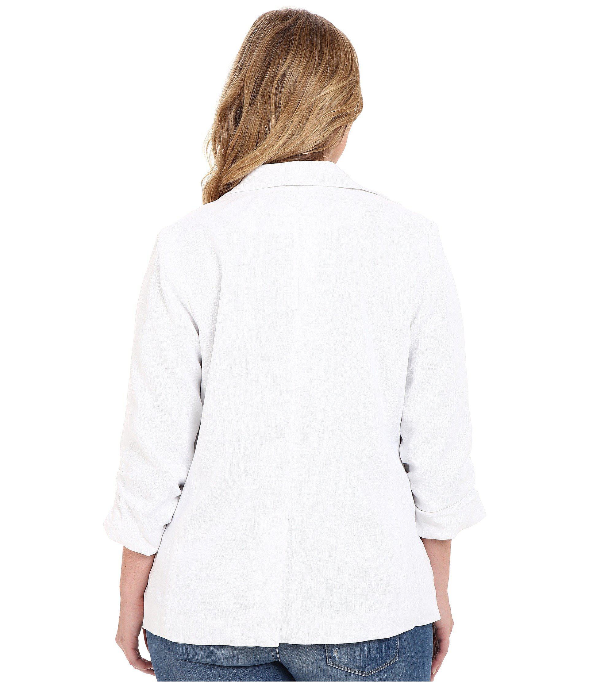de8c7d7ac41b7 Lyst - MICHAEL Michael Kors Plus Size Linen Shired Boyfriend Jacket ...