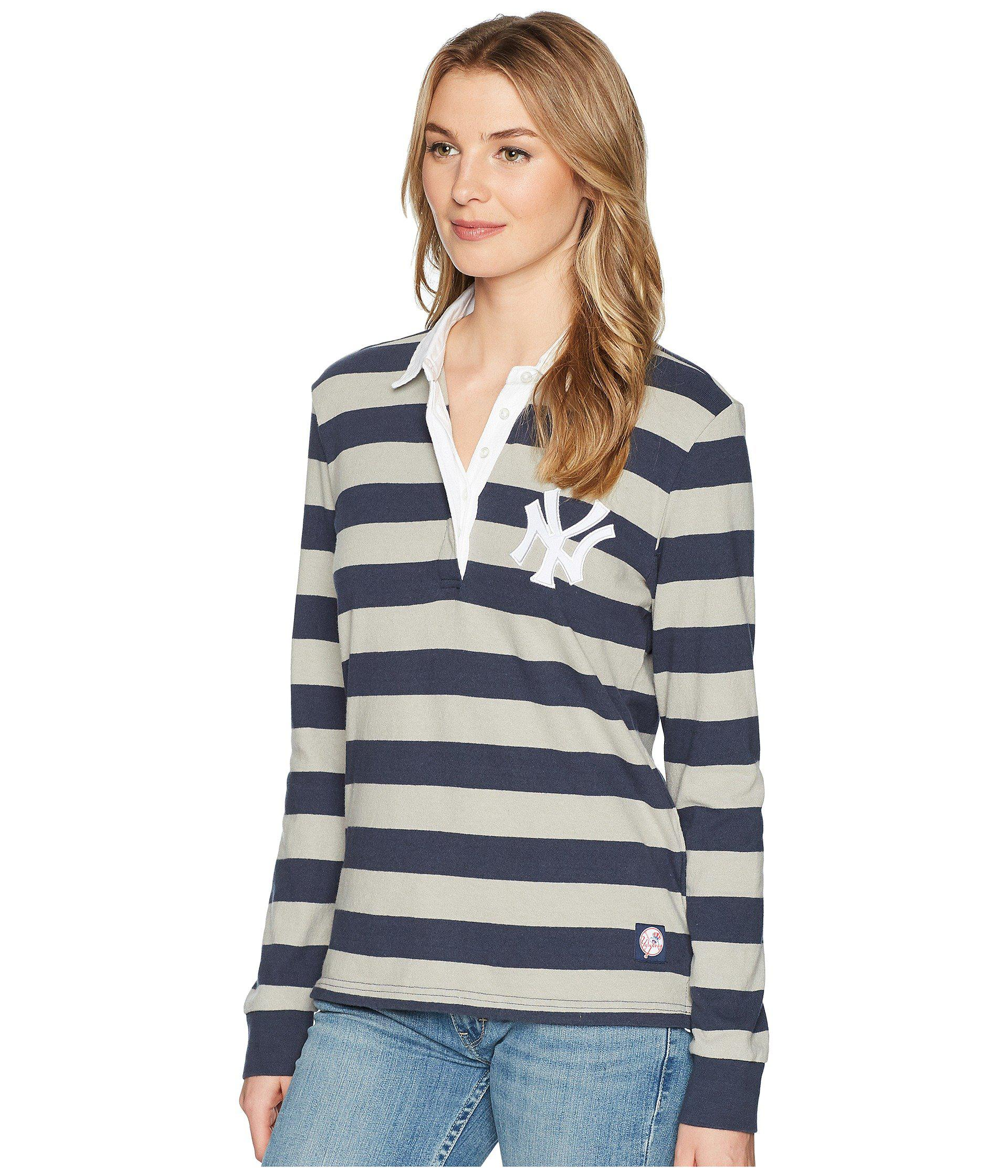 23fe1144c9 Lyst - Levi s Ny Yankees Striped Rugby Shirt in Blue - Save 44%