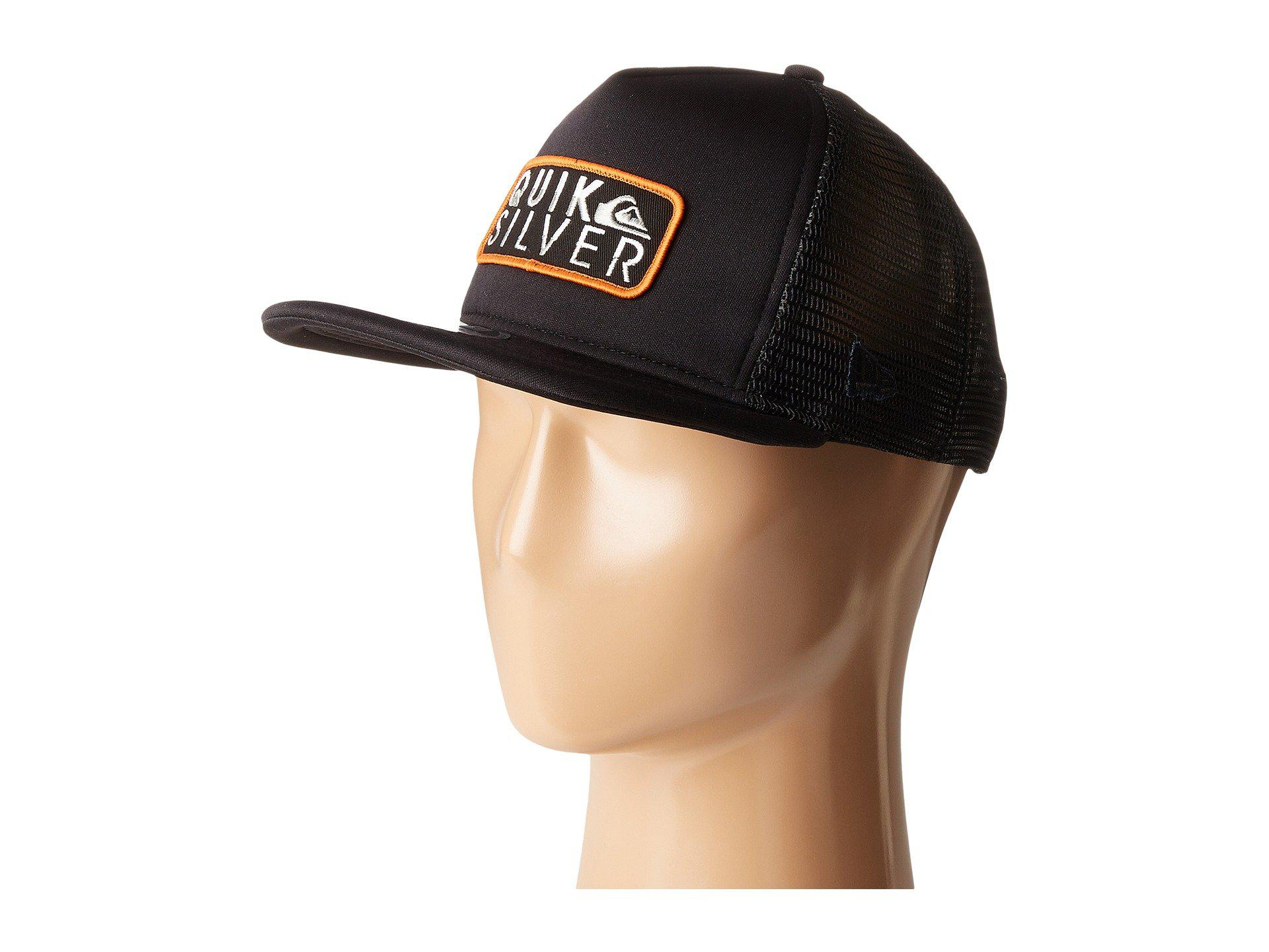 newest f0875 5835b Lyst - Quiksilver Slide Rider Hat in Black for Men