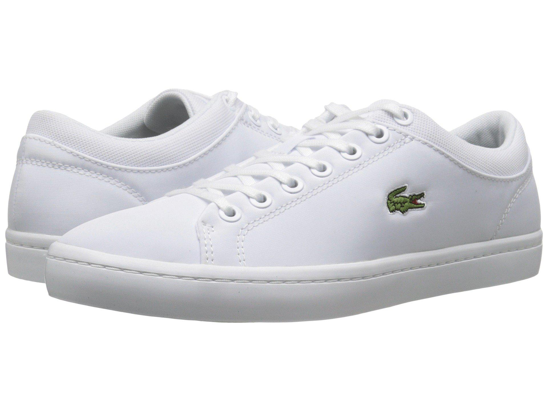 89410ffd6a906 Lyst - Lacoste Straightset Spt 216 1 Fashion Sneaker in White for Men