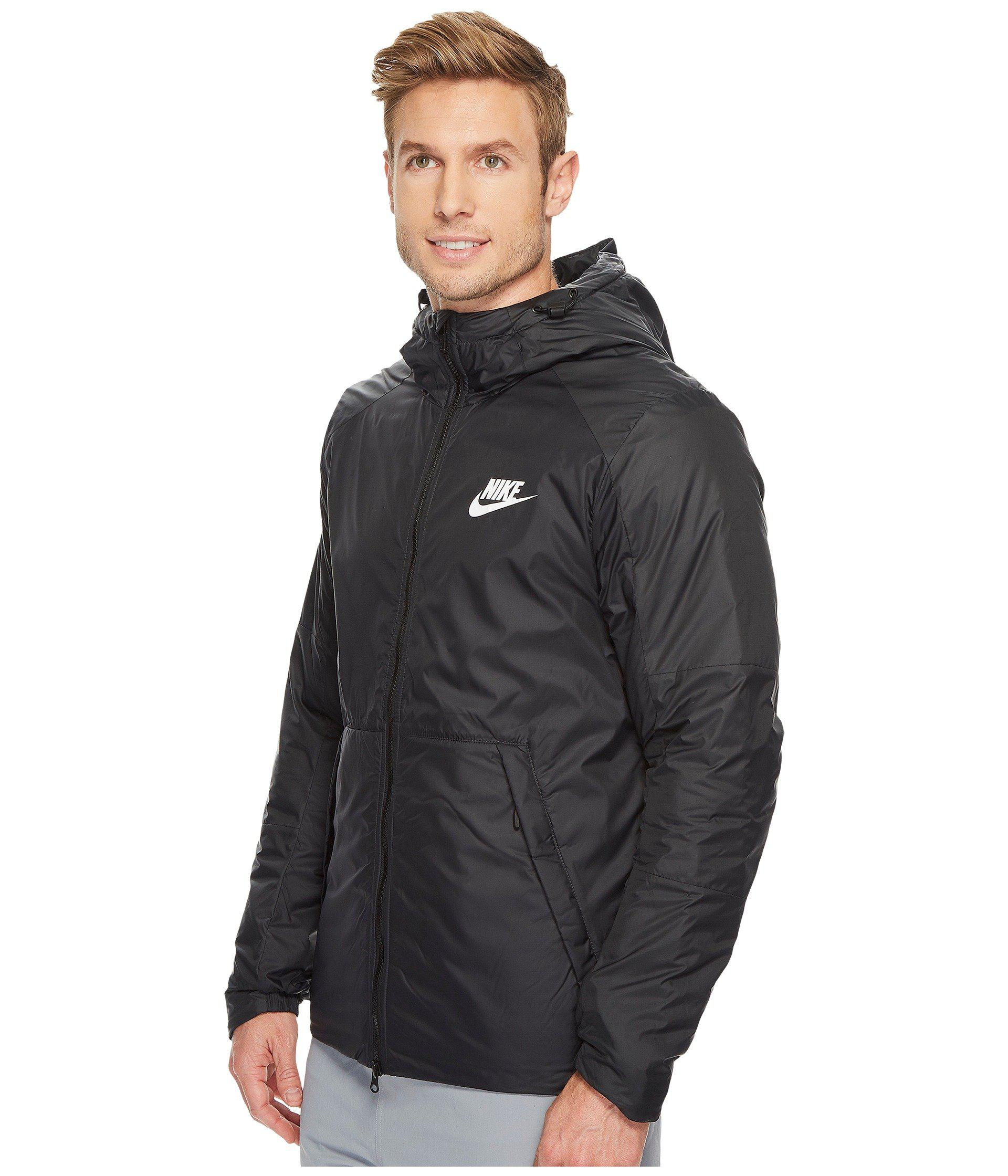 promo code 25567 82195 Nike Synthetic Fill Fleece Jacket in Black for Men - Lyst