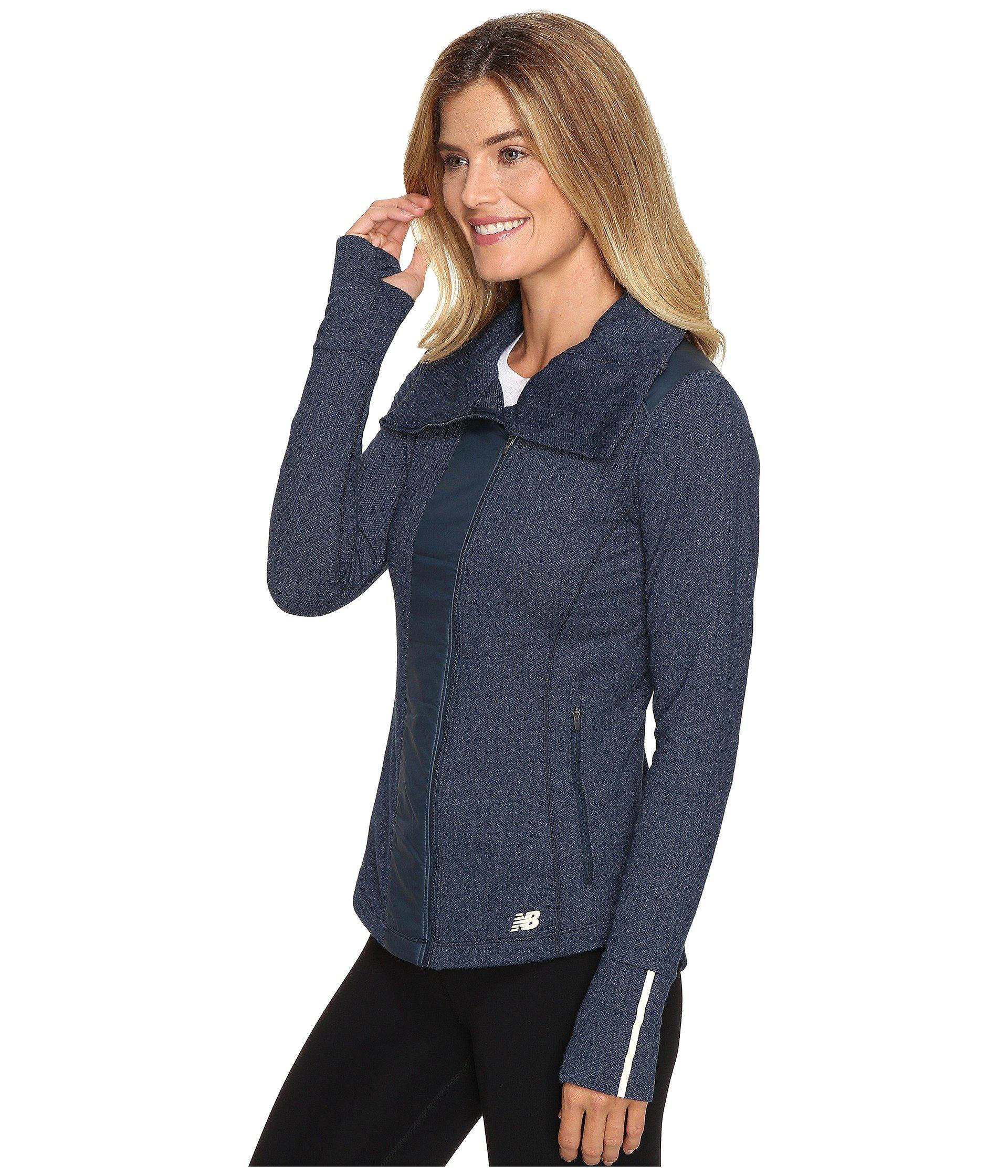 b500399b4aa50 New Balance Novelty Heat Jacket in Blue - Lyst