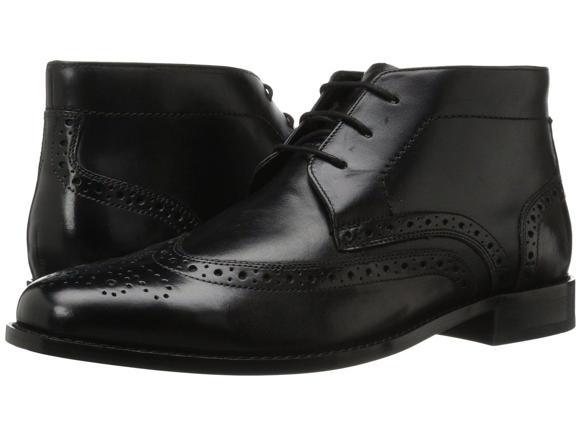 2457bd824fd9b Men's Black Nichols Wingtip Chukka Boot